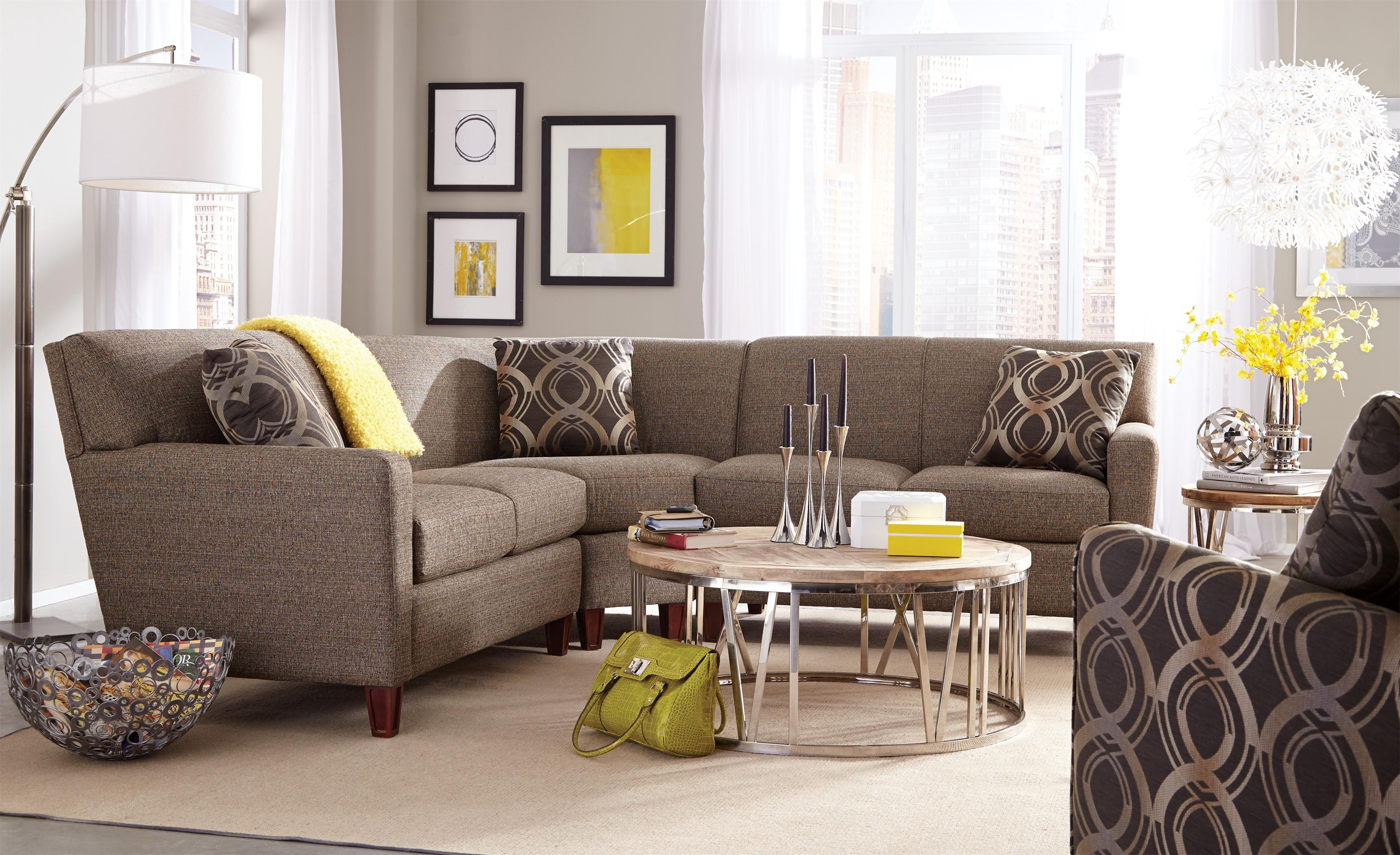 Craftmaster 7864 Three Piece Sectional Sofa With Laf Loveseat throughout Tatum Dark Grey 2 Piece Sectionals With Laf Chaise (Image 4 of 30)