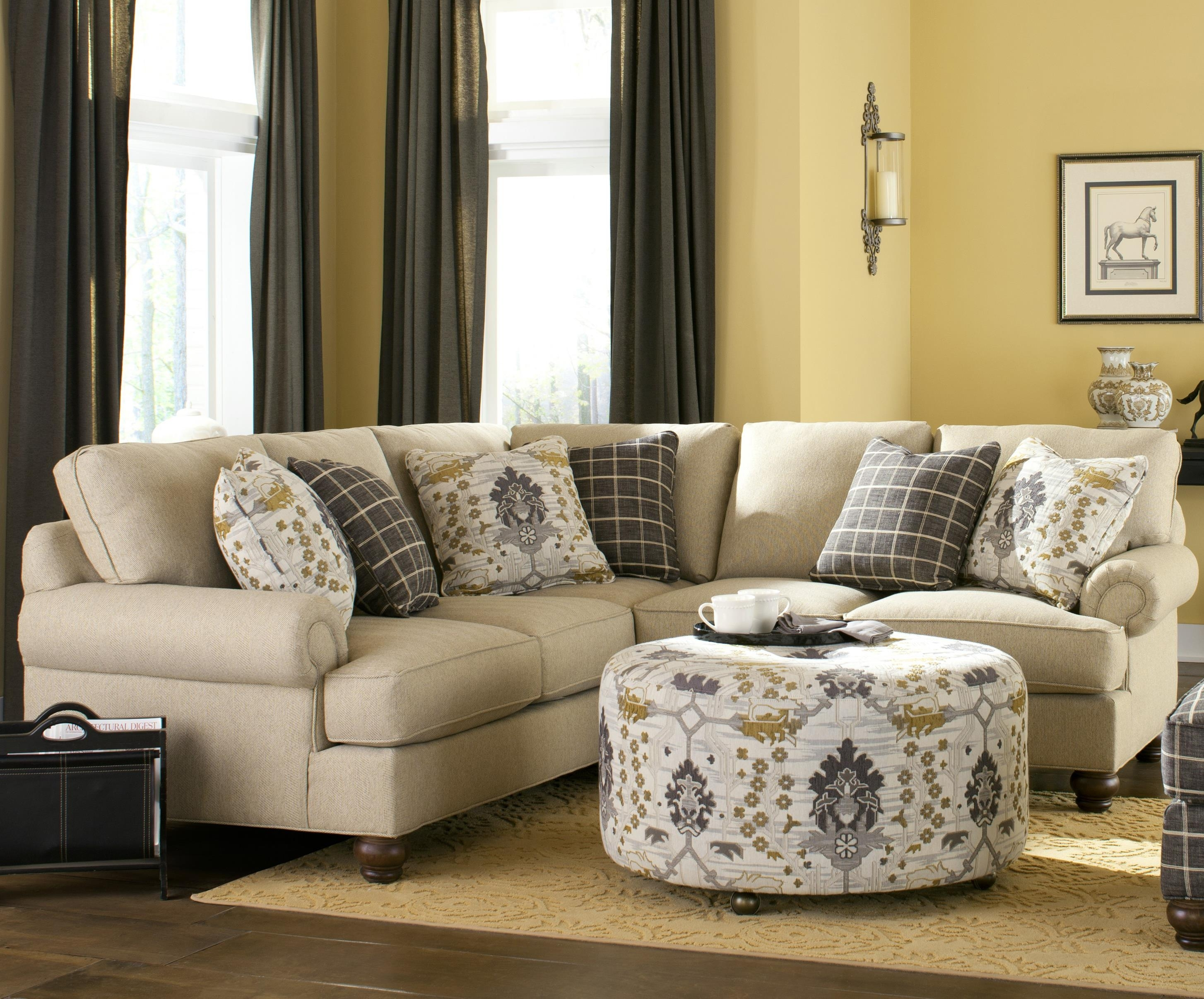 Craftmaster C9 Custom Collection <B>Customizable</b> Two Piece regarding Adeline 3 Piece Sectionals (Image 9 of 30)