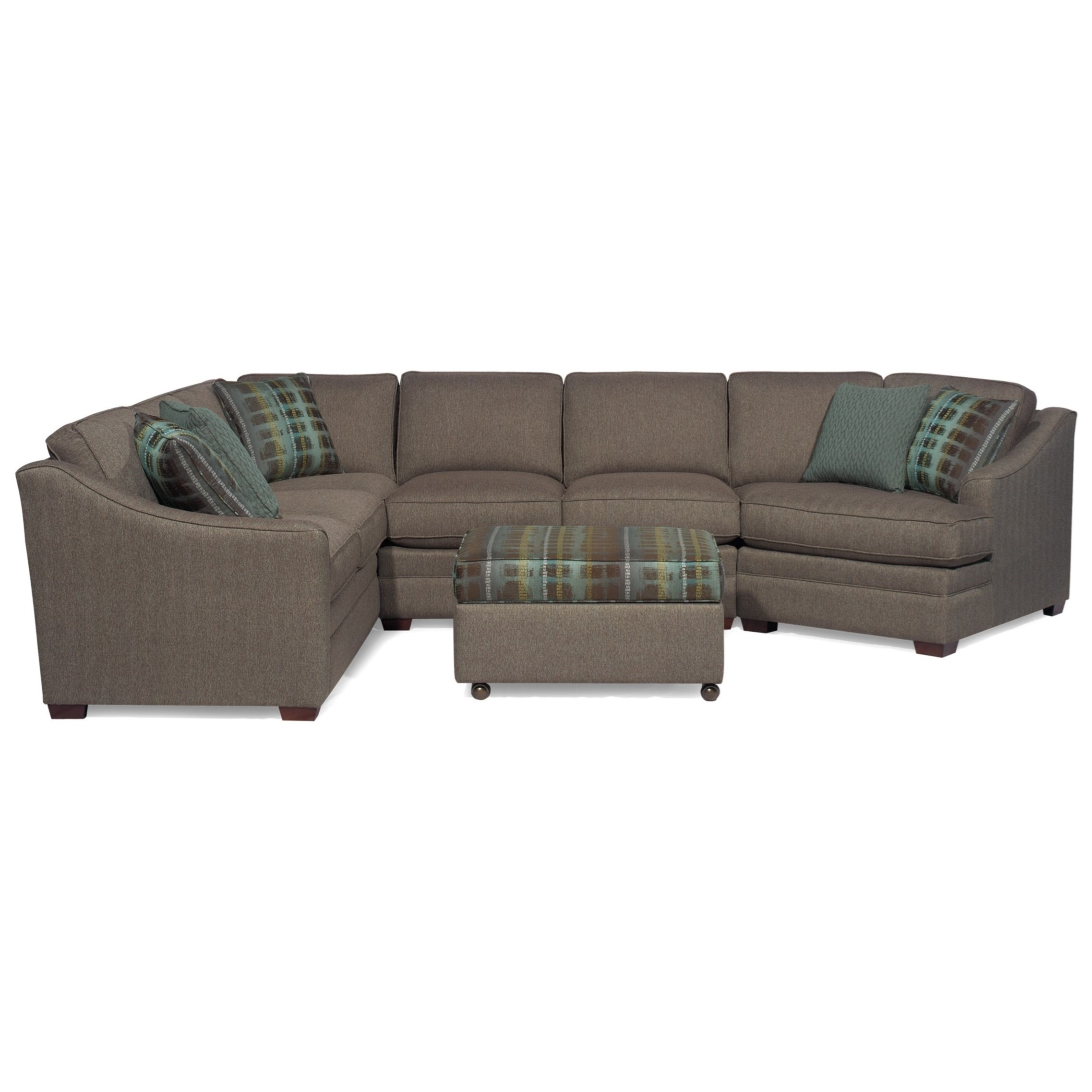 Craftmaster F9 Custom Collection <B>Customizable</b> 3-Piece pertaining to Avery 2 Piece Sectionals With Raf Armless Chaise (Image 11 of 30)