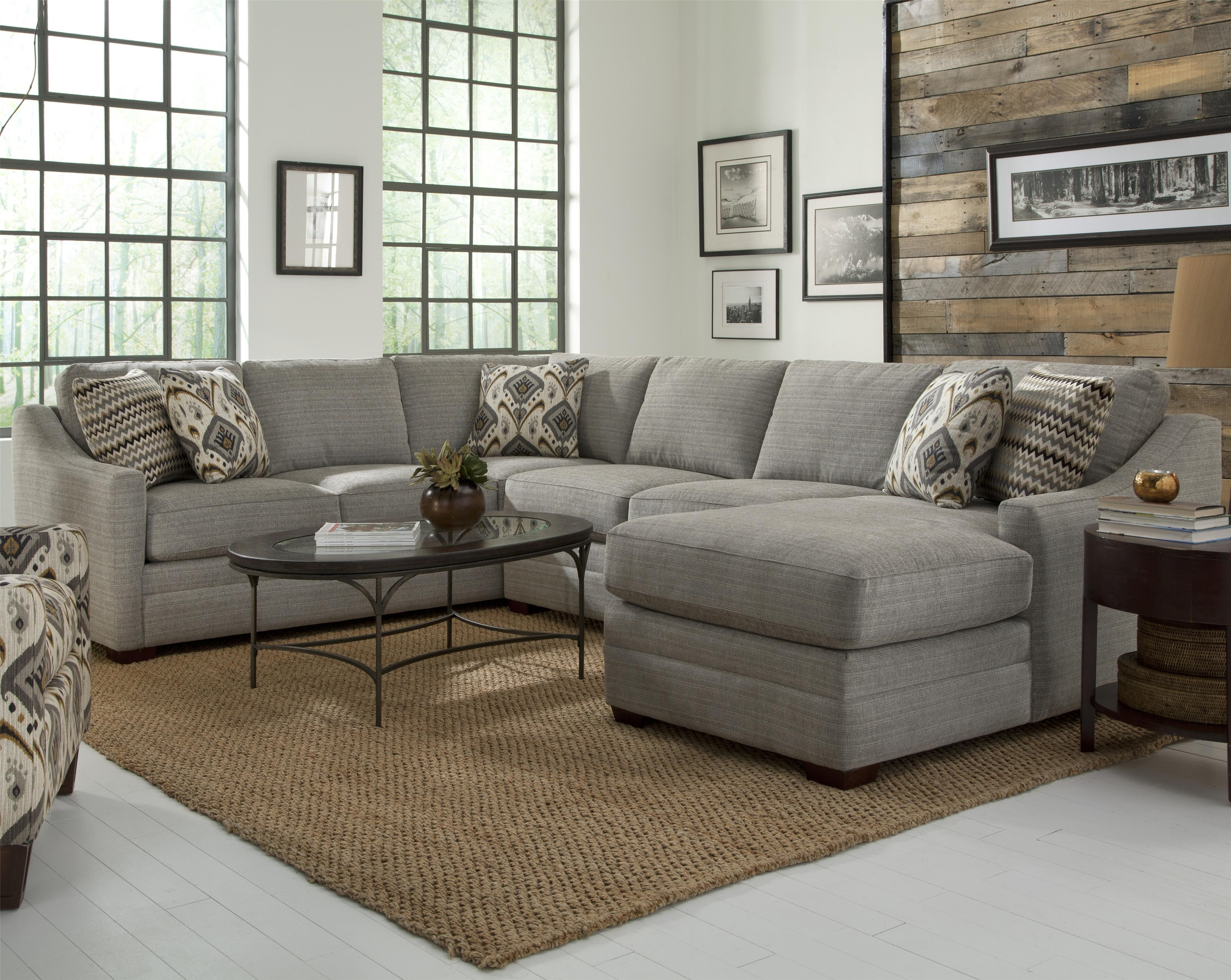 Craftmaster F9 Custom Collection Customizable Four Piece Sectional intended for Tatum Dark Grey 2 Piece Sectionals With Raf Chaise (Image 3 of 30)