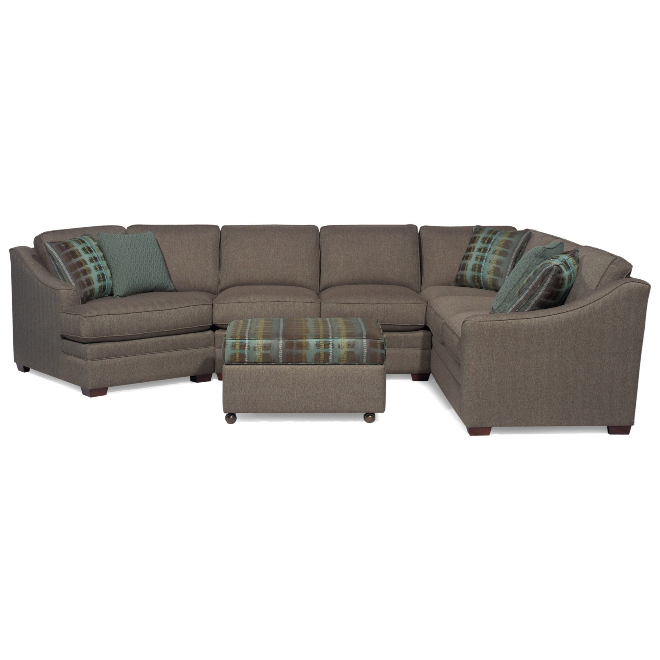Craftmaster F9 Design Options <B>Customizable</b> 3-Piece Sectional within Avery 2 Piece Sectionals With Laf Armless Chaise (Image 10 of 30)