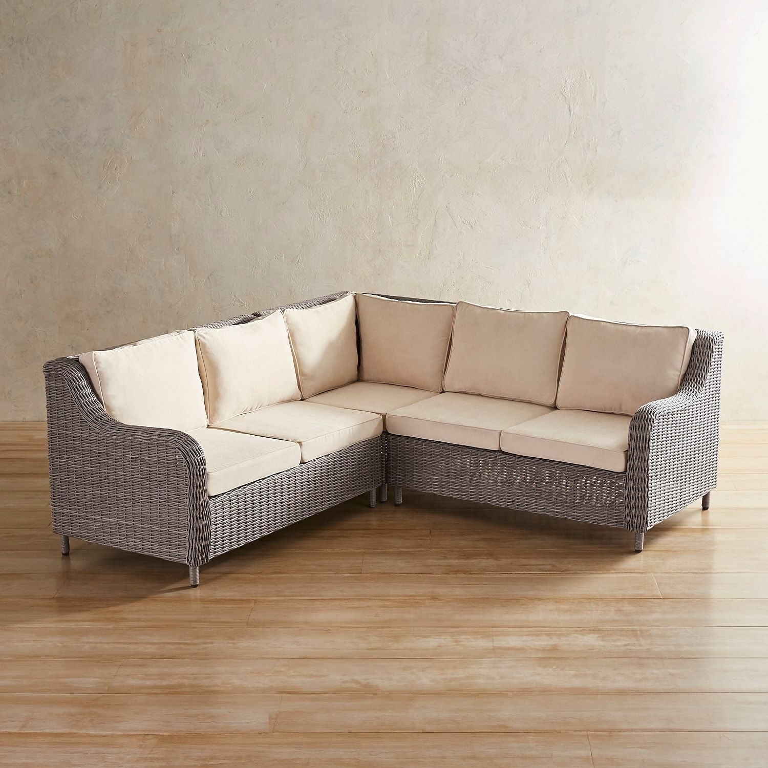 Crestview Gray 3-Piece Sectional | *patio Furniture > Sectionals in Blaine 3 Piece Sectionals (Image 14 of 30)