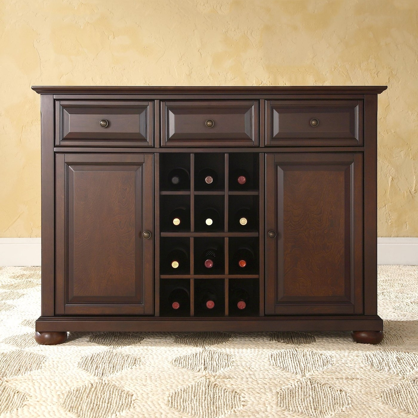 Crosley Furniture Alexandria Buffet Server/sideboard Cabinet pertaining to Amos Buffet Sideboards (Image 13 of 30)