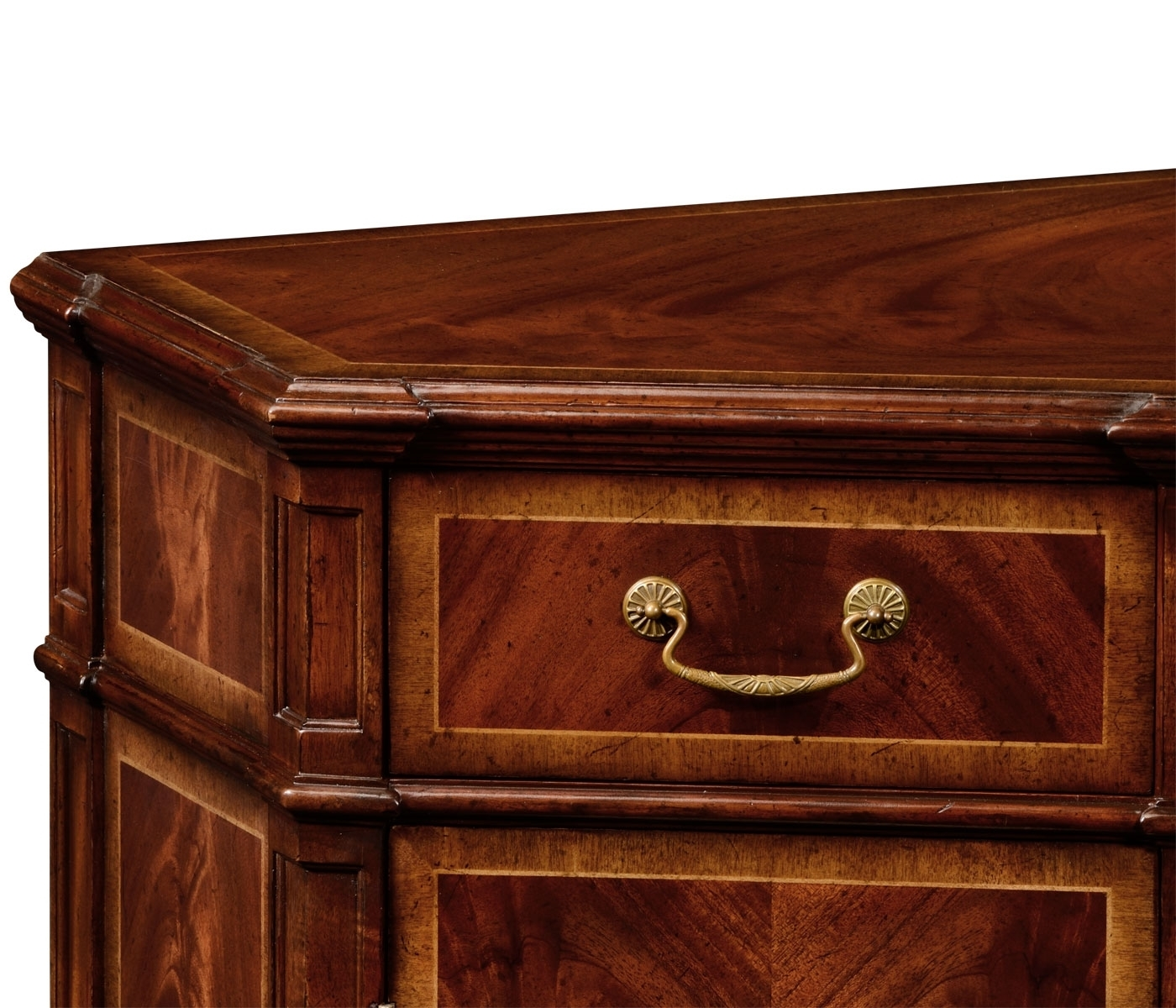 Crotch Mahogany Starburst Sideboard Side Cabinet throughout Starburst 3 Door Sideboards (Image 11 of 30)