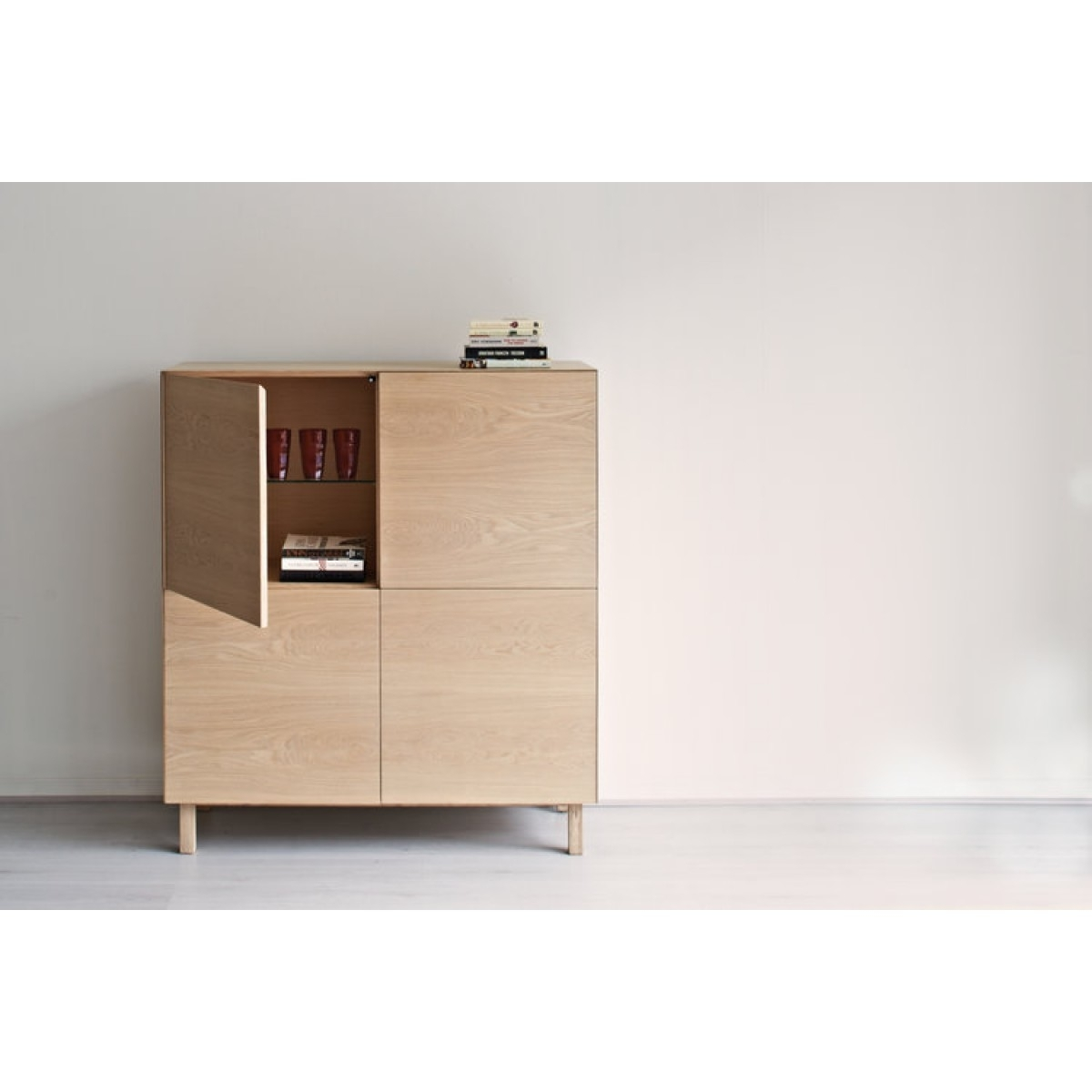 Cubo Square Cabinet 4 Doorsanother Brand - Sideboards - Kitchen intended for 4 Door Wood Squares Sideboards (Image 6 of 30)