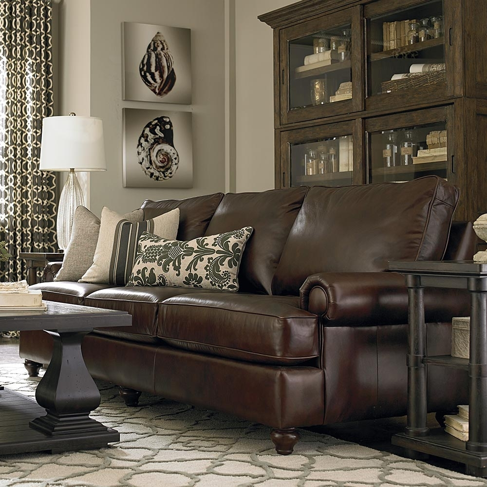 Custom Leather Montague Great Room Sofa within Harper Down 3 Piece Sectionals (Image 6 of 30)