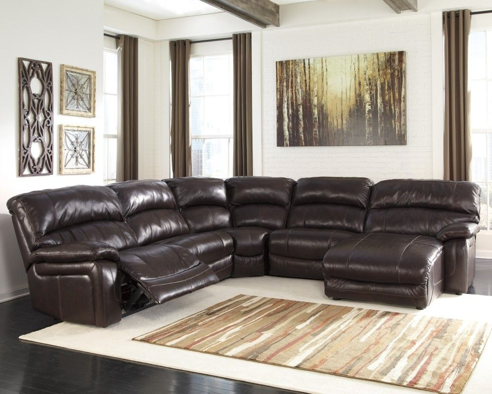 Damacio - Dark Brown - 6 Pc. Raf Press Back Chaise Sectional | Dark in Jackson 6 Piece Power Reclining Sectionals (Image 10 of 30)