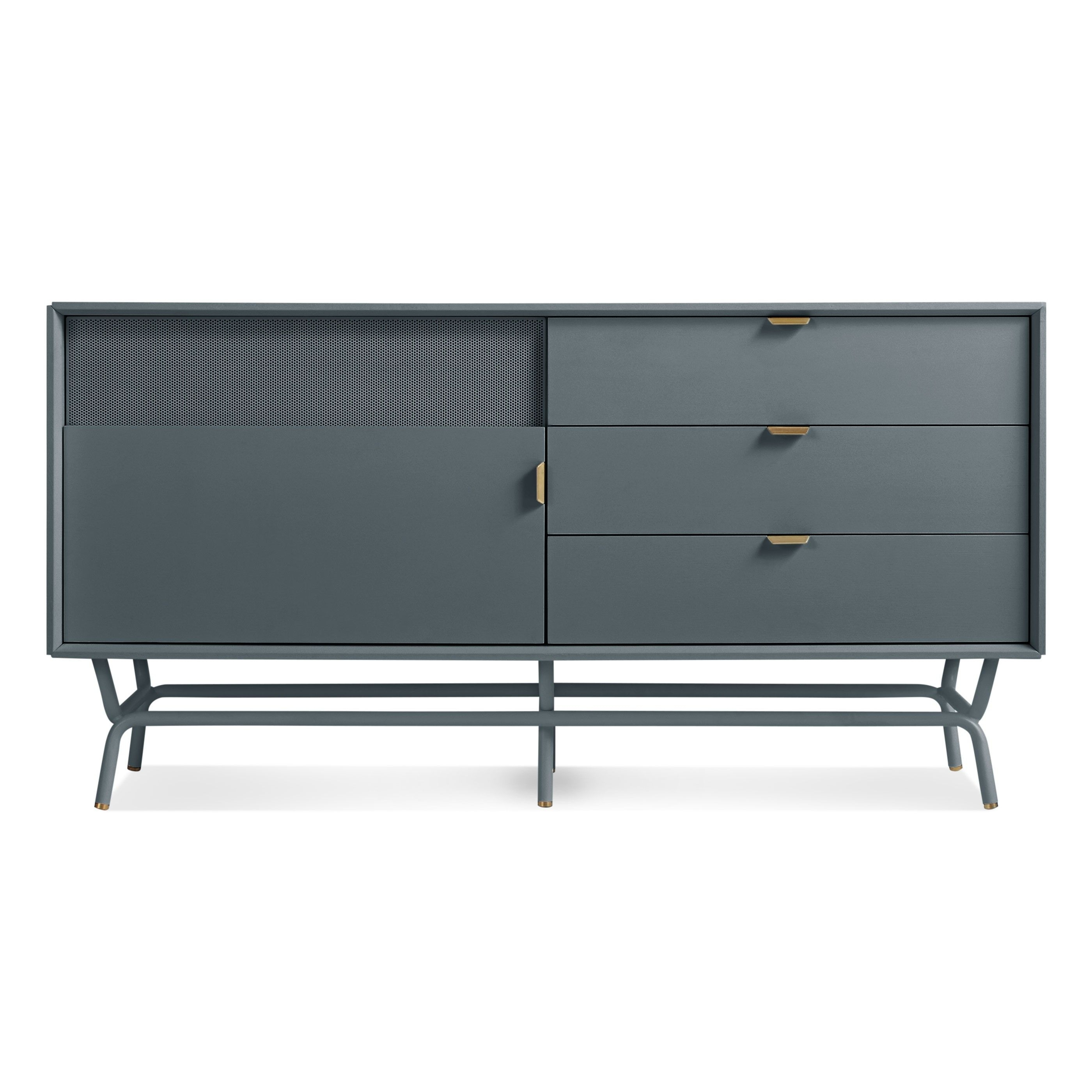 Dang 1 Door / 3 Drawer Console - Marine Blue | Sexy Furniture For in Jaxon Grey Sideboards (Image 8 of 30)