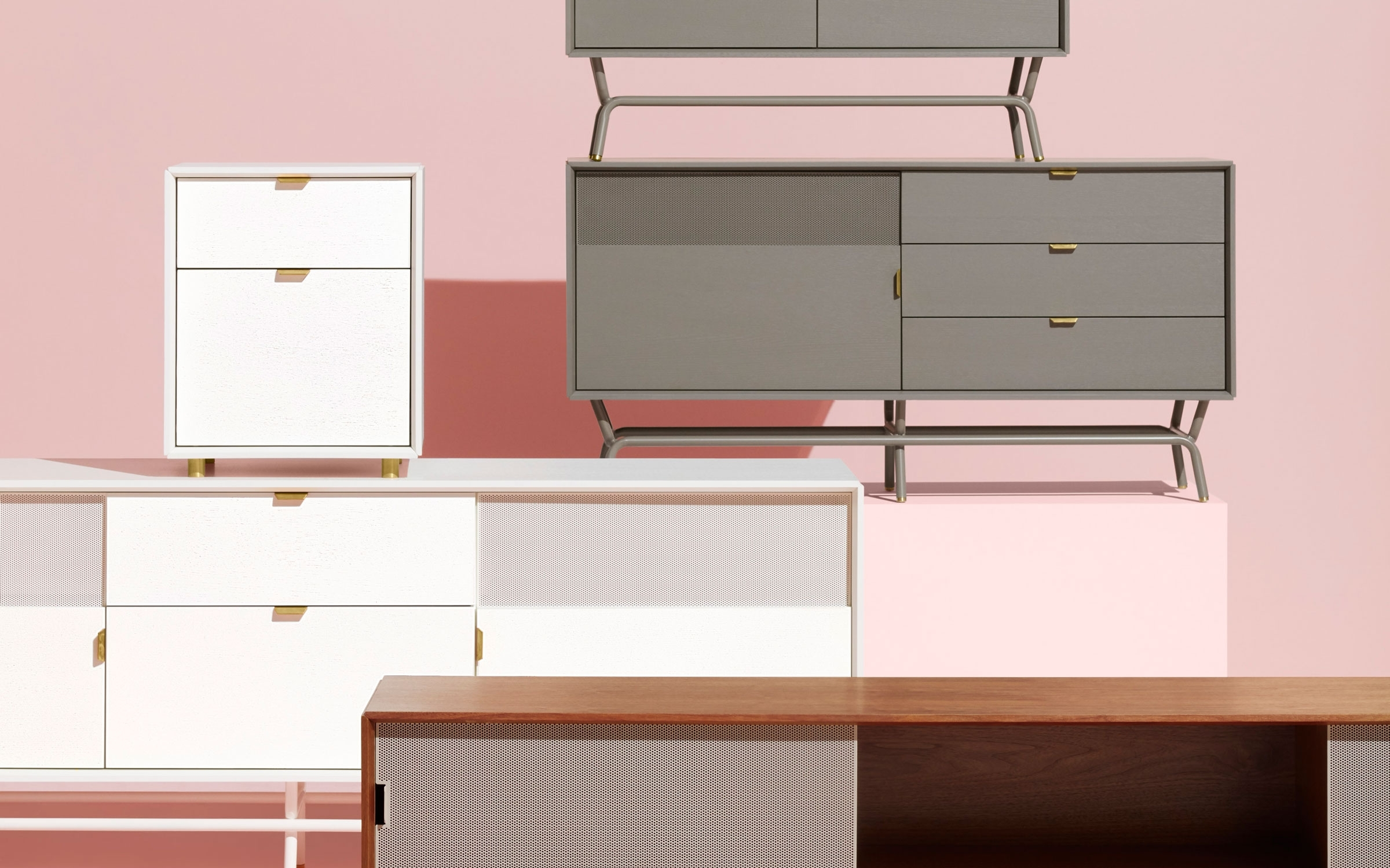 Dang 1 Door / 3 Drawer Console - Modern Credenza | Blu Dot within Walnut Finish 2-Door/3-Drawer Sideboards (Image 9 of 30)