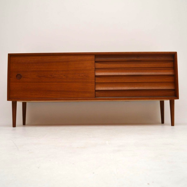 Danish Teak Retro Sideboard Vintage 1960's | Retrospective Interiors with Vintage 8 Glass Sideboards (Image 10 of 30)