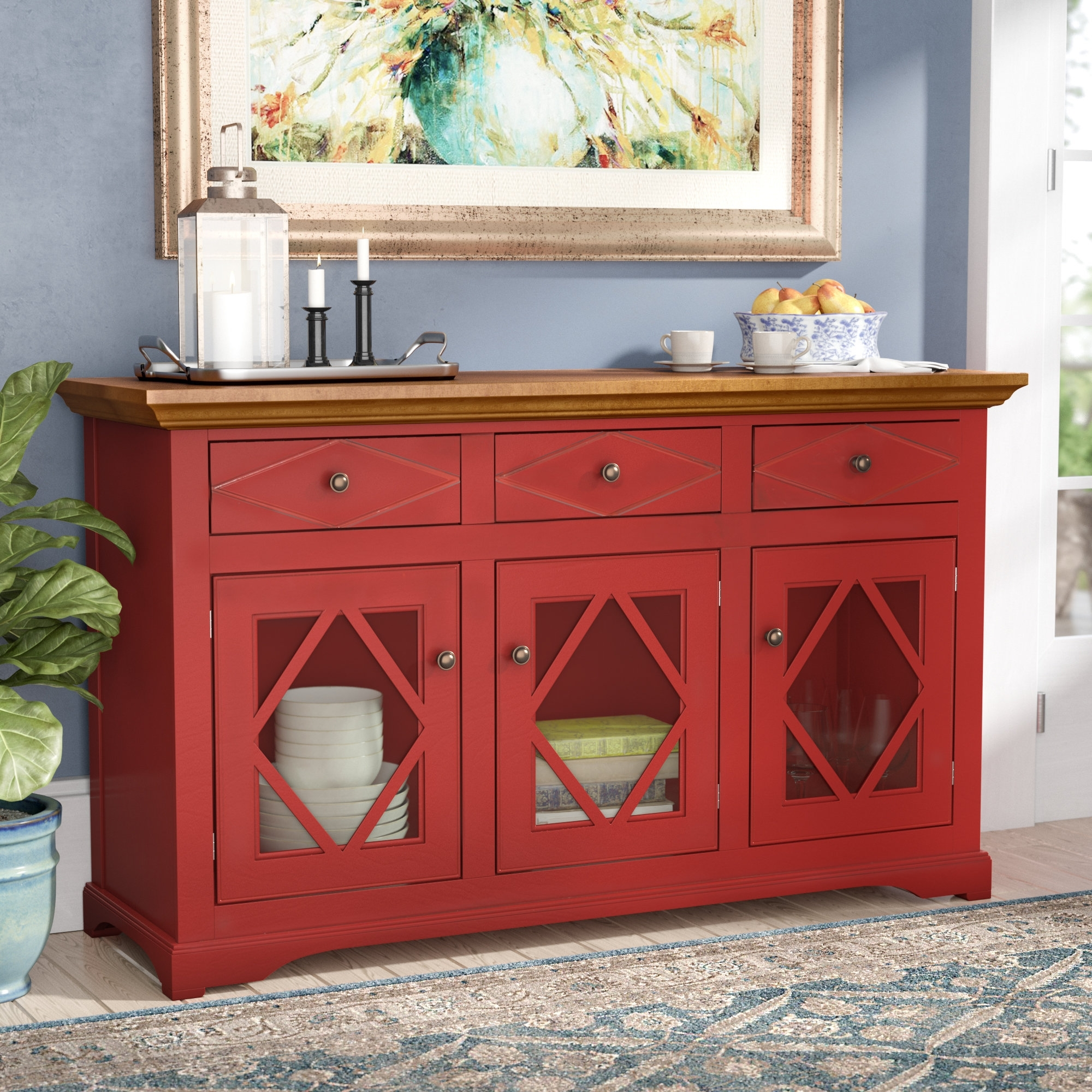 Darby Home Co Blackwater Sideboard & Reviews | Wayfair for Corrugated Natural 6-Door Sideboards (Image 6 of 30)