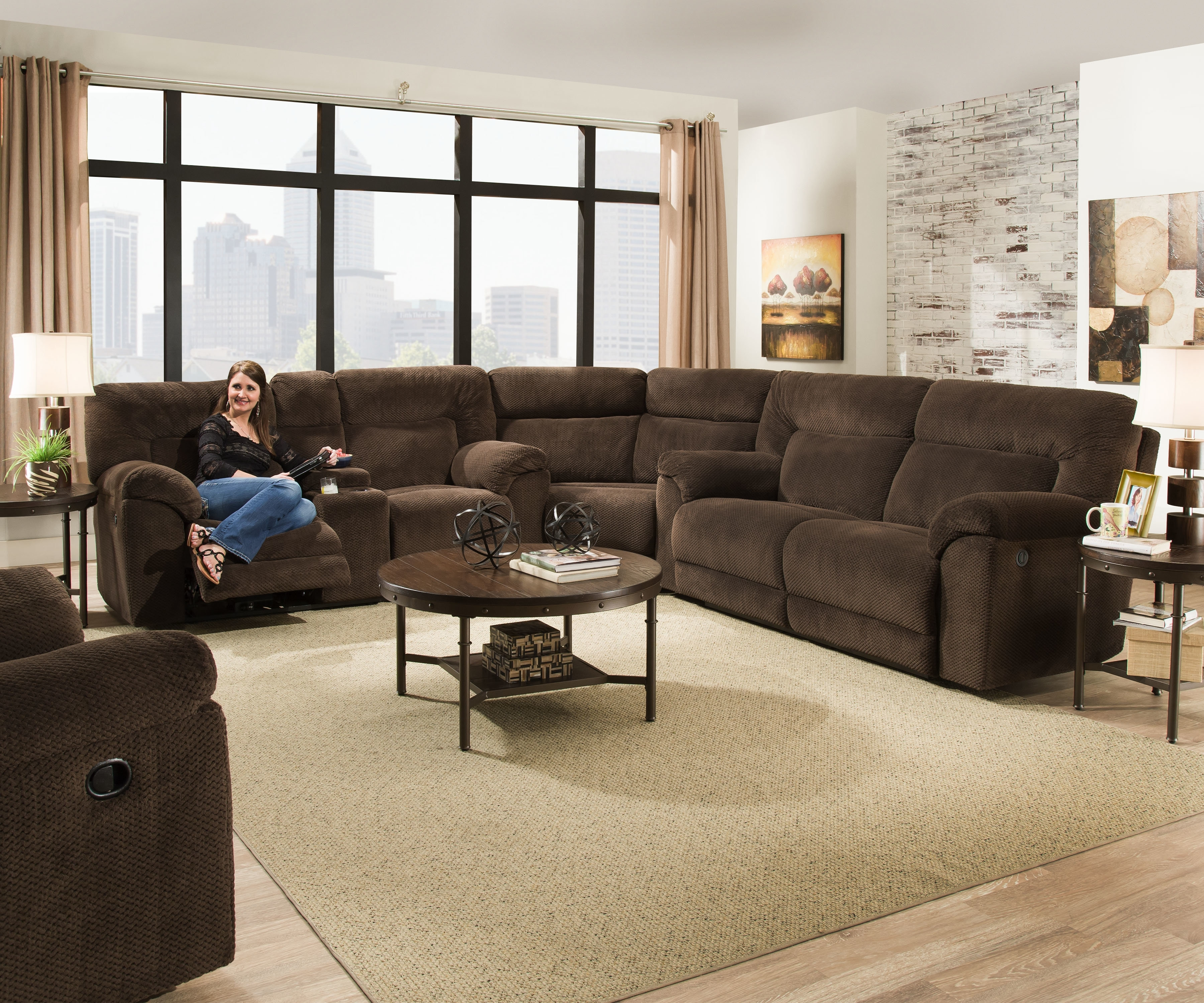 Darby Home Co Radcliff Reclining Sectional | Wayfair within Karen 3 Piece Sectionals (Image 9 of 30)