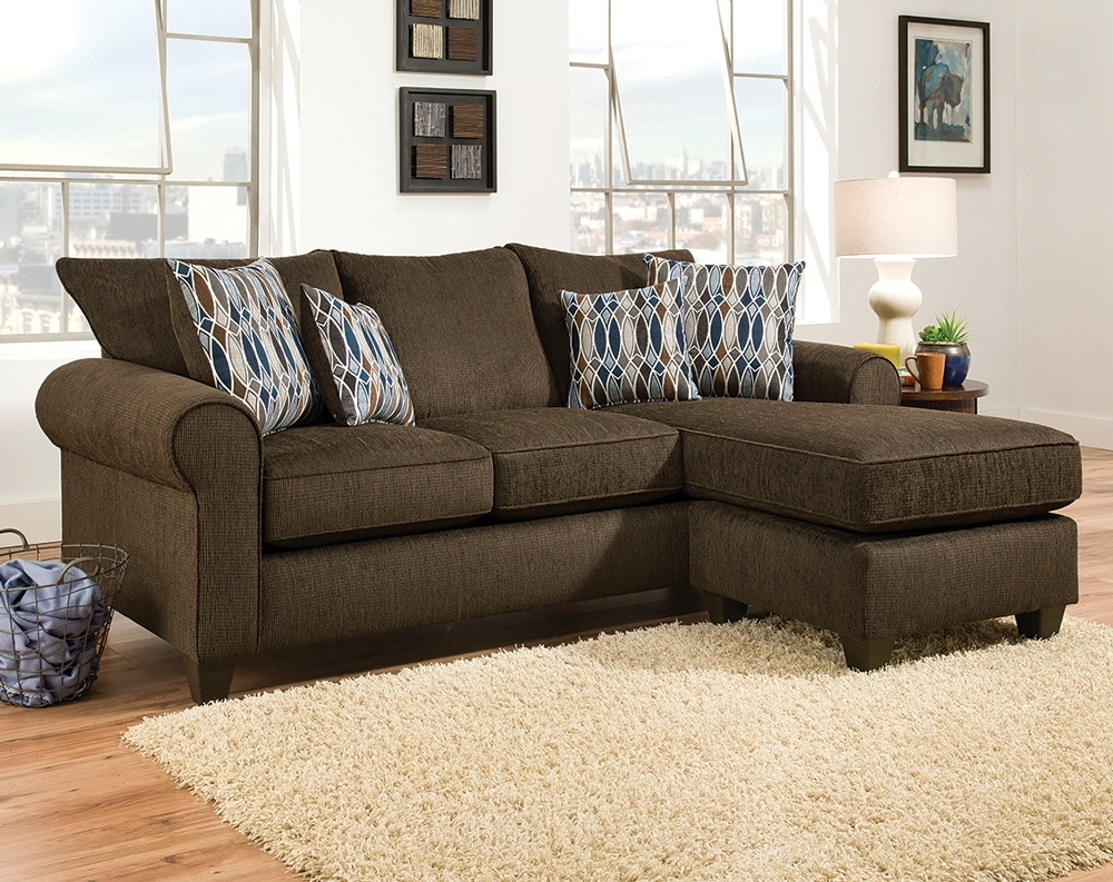Dark Brown Sectional Sofa Radar Chocolate Fabric Couch Hover Zoom regarding Tenny Cognac 2 Piece Left Facing Chaise Sectionals With 2 Headrest (Image 12 of 30)