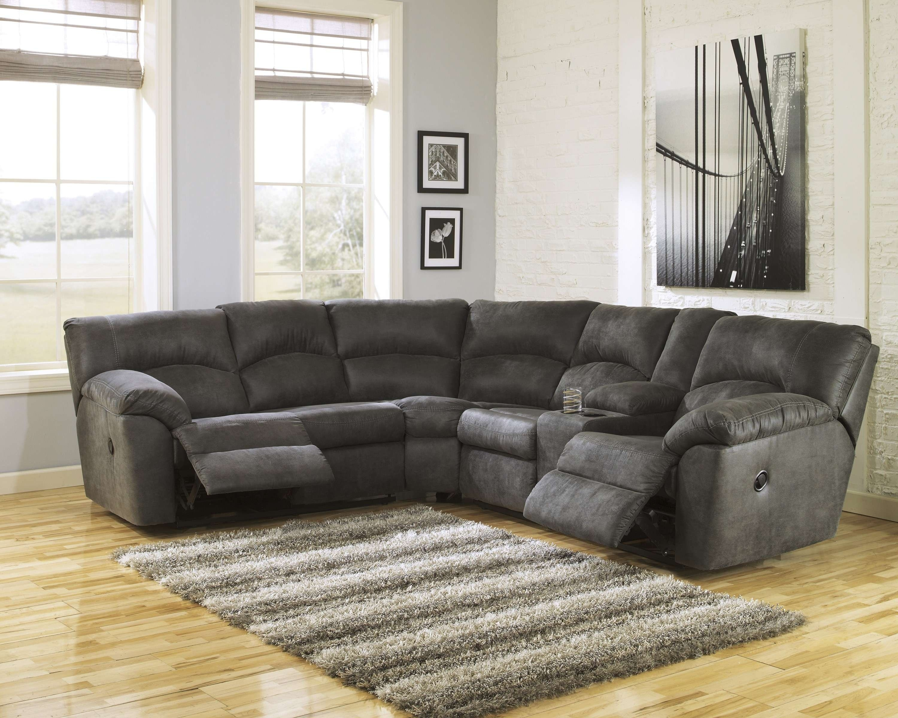 Dark Grey Sectional - Tidex regarding Lucy Grey 2 Piece Sectionals With Raf Chaise (Image 9 of 30)