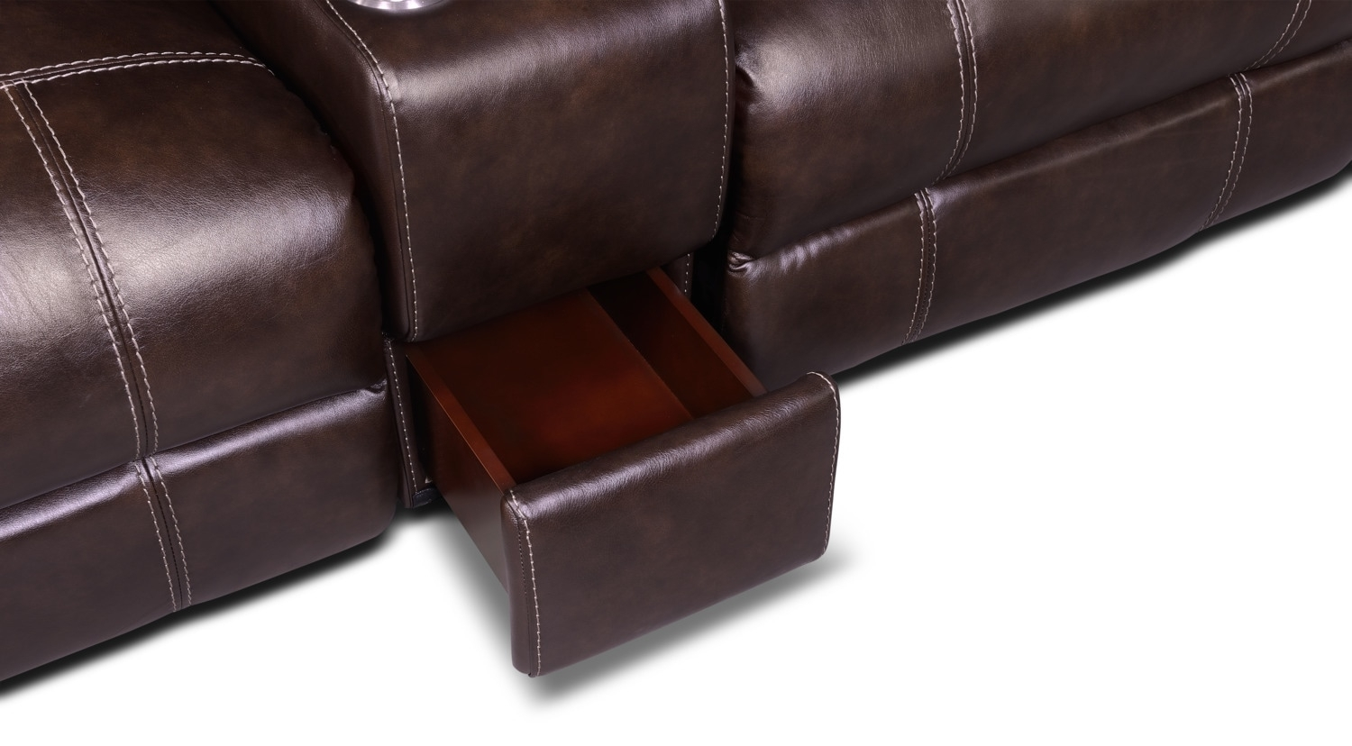 Dartmouth 6-Piece Power Reclining Sectional W/ Left-Facing Chaise in Norfolk Chocolate 6 Piece Sectionals (Image 10 of 30)