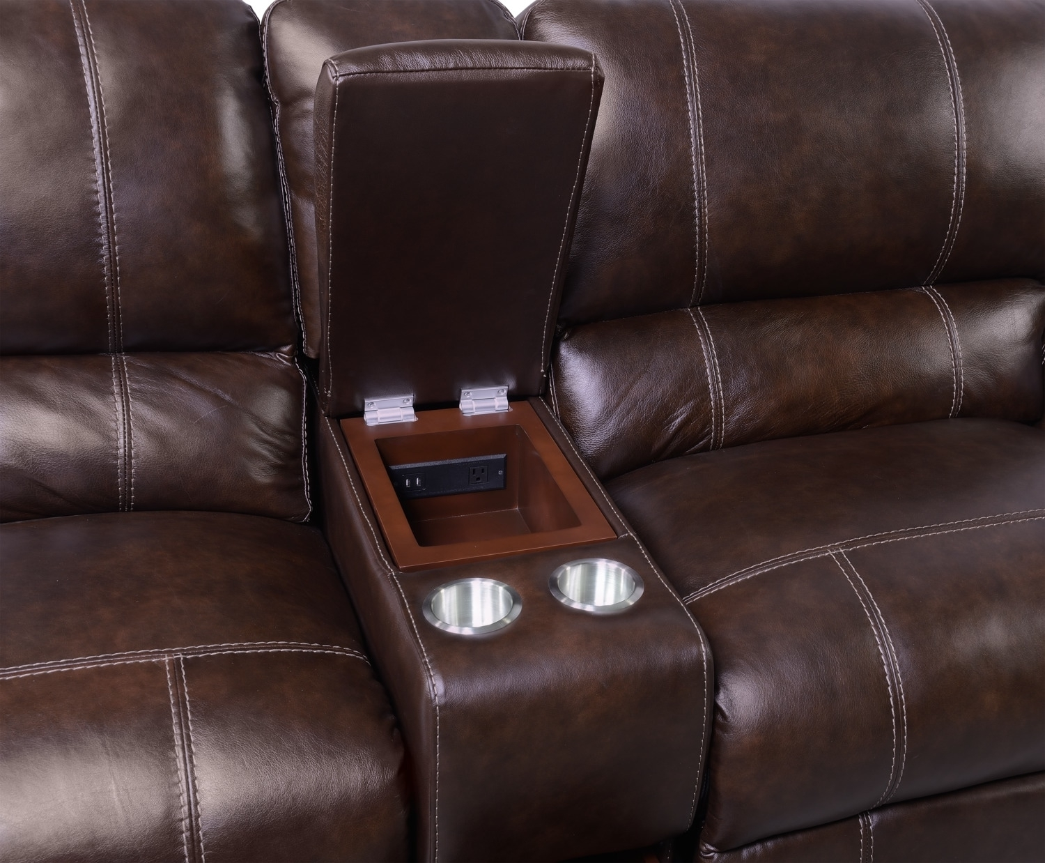 Dartmouth 6-Piece Power Reclining Sectional W/ Left-Facing Chaise intended for Norfolk Chocolate 6 Piece Sectionals With Raf Chaise (Image 8 of 30)