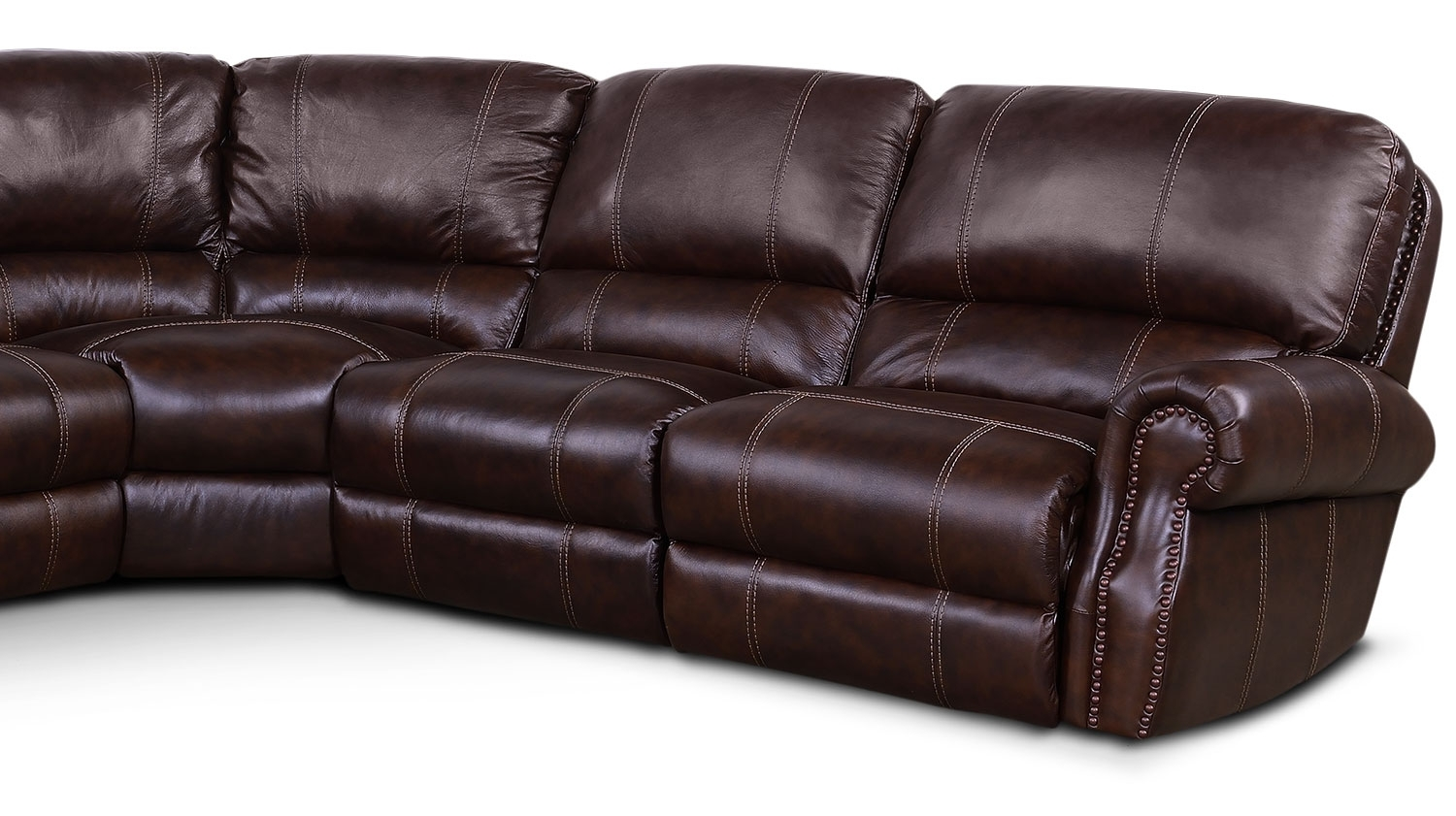 Dartmouth 6-Piece Power Reclining Sectional W/ Left-Facing Chaise with Norfolk Chocolate 3 Piece Sectionals With Laf Chaise (Image 12 of 30)
