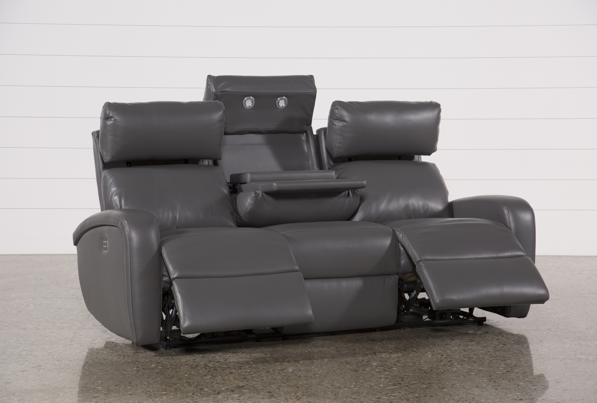Darwin Graphite Power Reclining Sofa | Reclining Sofa And House for Denali Charcoal Grey 6 Piece Reclining Sectionals With 2 Power Headrests (Image 10 of 30)