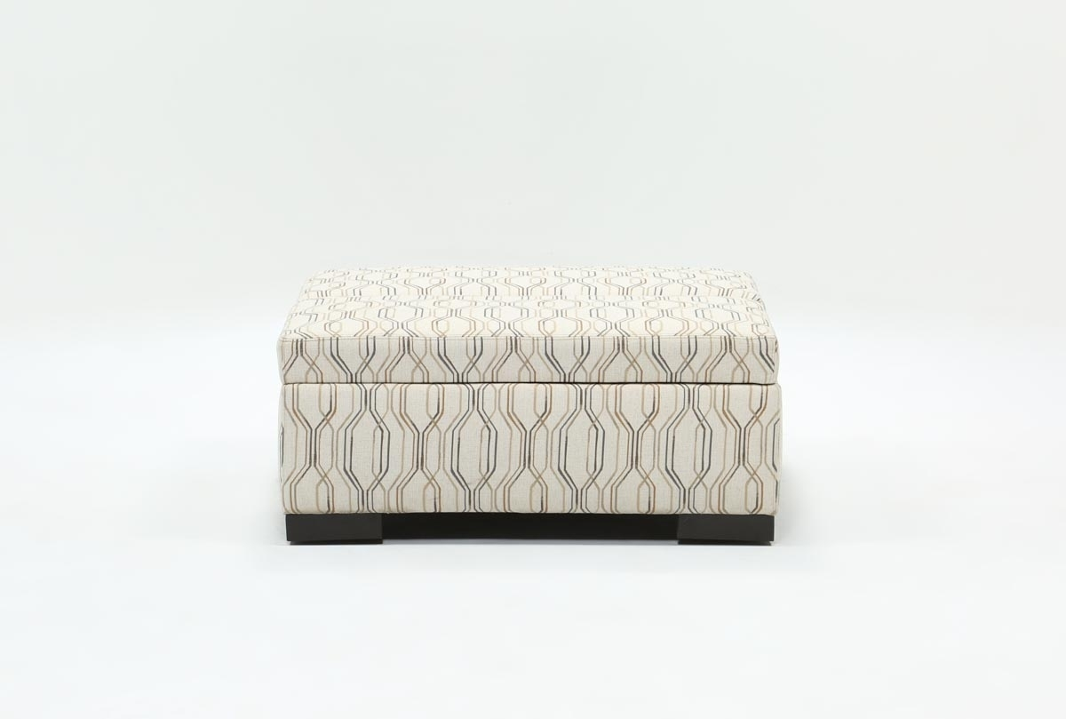 Davis Accent Storage Ottoman | Living Spaces regarding Whitley 3 Piece Sectionals By Nate Berkus And Jeremiah Brent (Image 6 of 32)