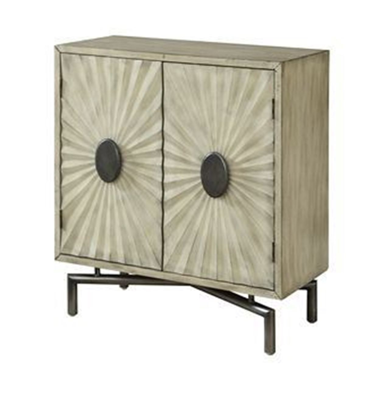 Dayton Cream 2 Door Cabinet - Woodstock Furniture & Mattress with Starburst 3 Door Sideboards (Image 12 of 30)