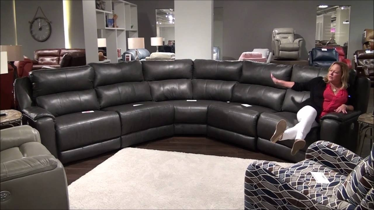 Dazzle Reclining Sectional With Power Headrestssouthern Motion pertaining to Marcus Grey 6 Piece Sectionals With  Power Headrest & Usb (Image 10 of 30)