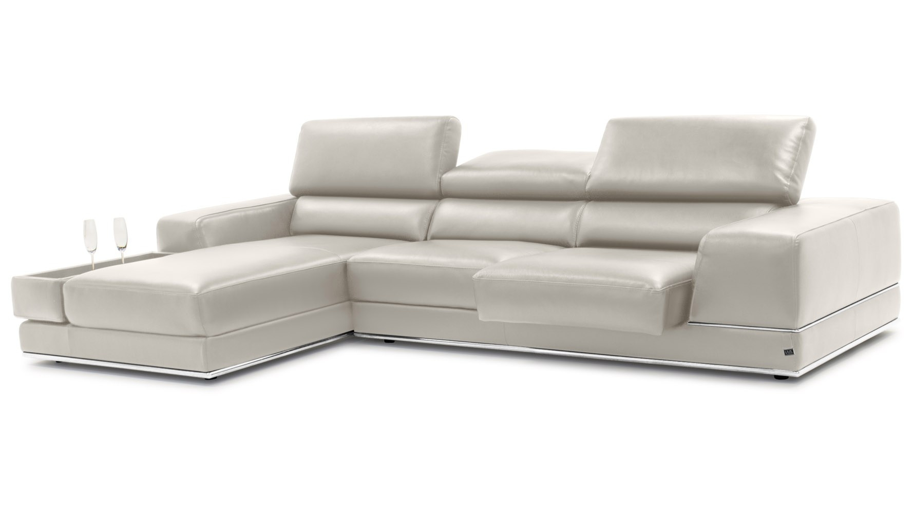 Dazzling Tenny Grey Piece Left Facing Chaise Sectional Headrest Been intended for Tenny Dark Grey 2 Piece Right Facing Chaise Sectionals With 2 Headrest (Image 12 of 30)