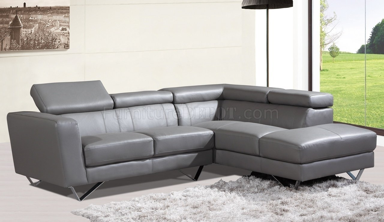 Dazzling Tenny Grey Piece Left Facing Chaise Sectional Headrest Been within Tenny Dark Grey 2 Piece Left Facing Chaise Sectionals With 2 Headrest (Image 14 of 30)
