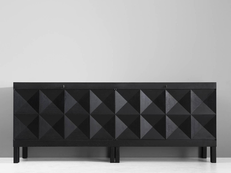 De Coene Black Brutalist Sideboard | Brutalism | Pinterest inside Gunmetal Perforated Brass Sideboards (Image 19 of 30)
