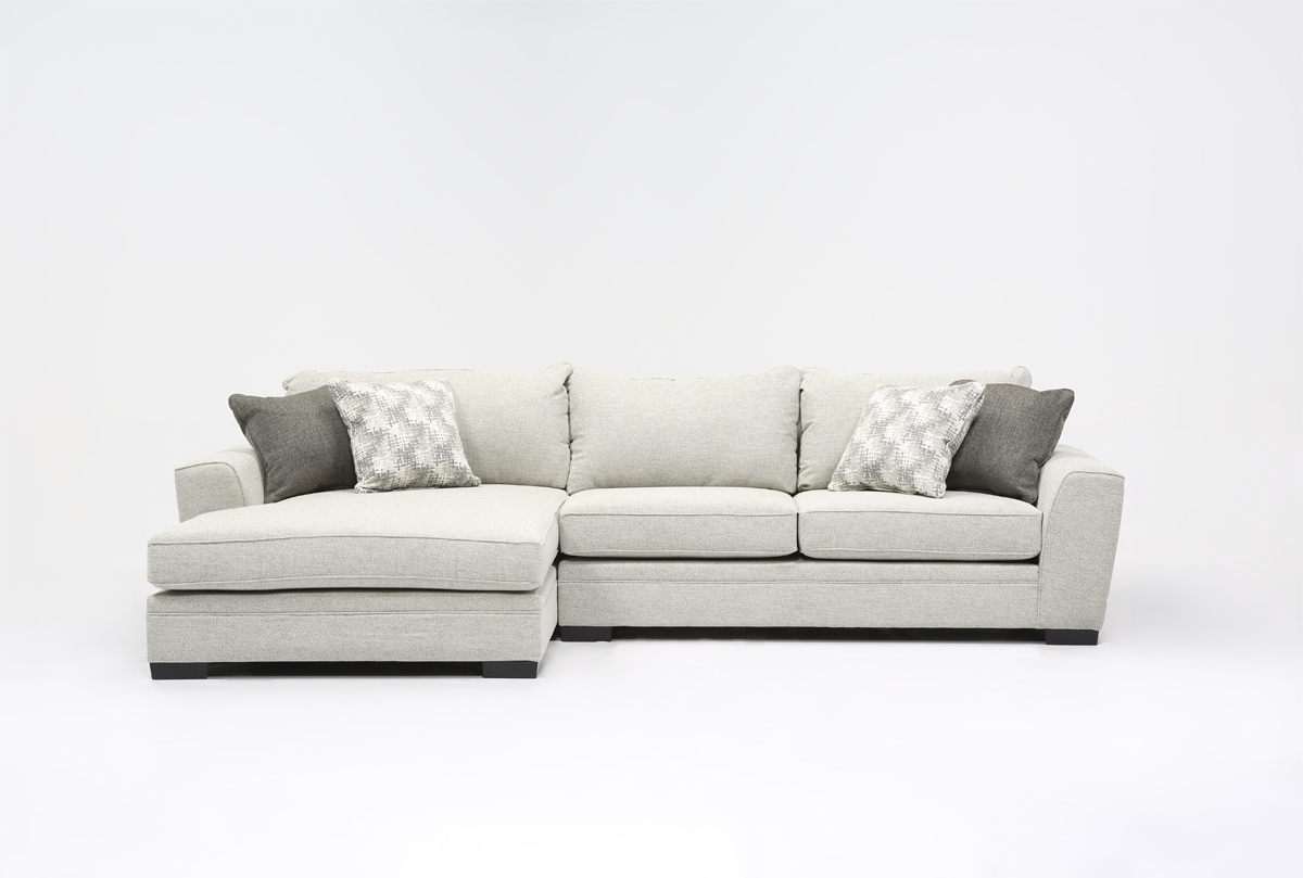 Delano 2 Piece Sectional W/laf Oversized Chaise | Living Spaces intended for Evan 2 Piece Sectionals With Raf Chaise (Image 12 of 30)