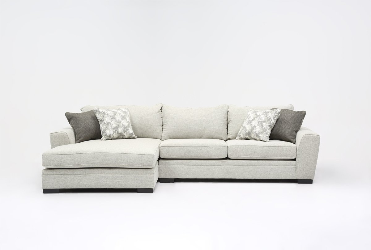 Delano 2 Piece Sectional W/laf Oversized Chaise | Living Spaces with Aurora 2 Piece Sectionals (Image 15 of 30)