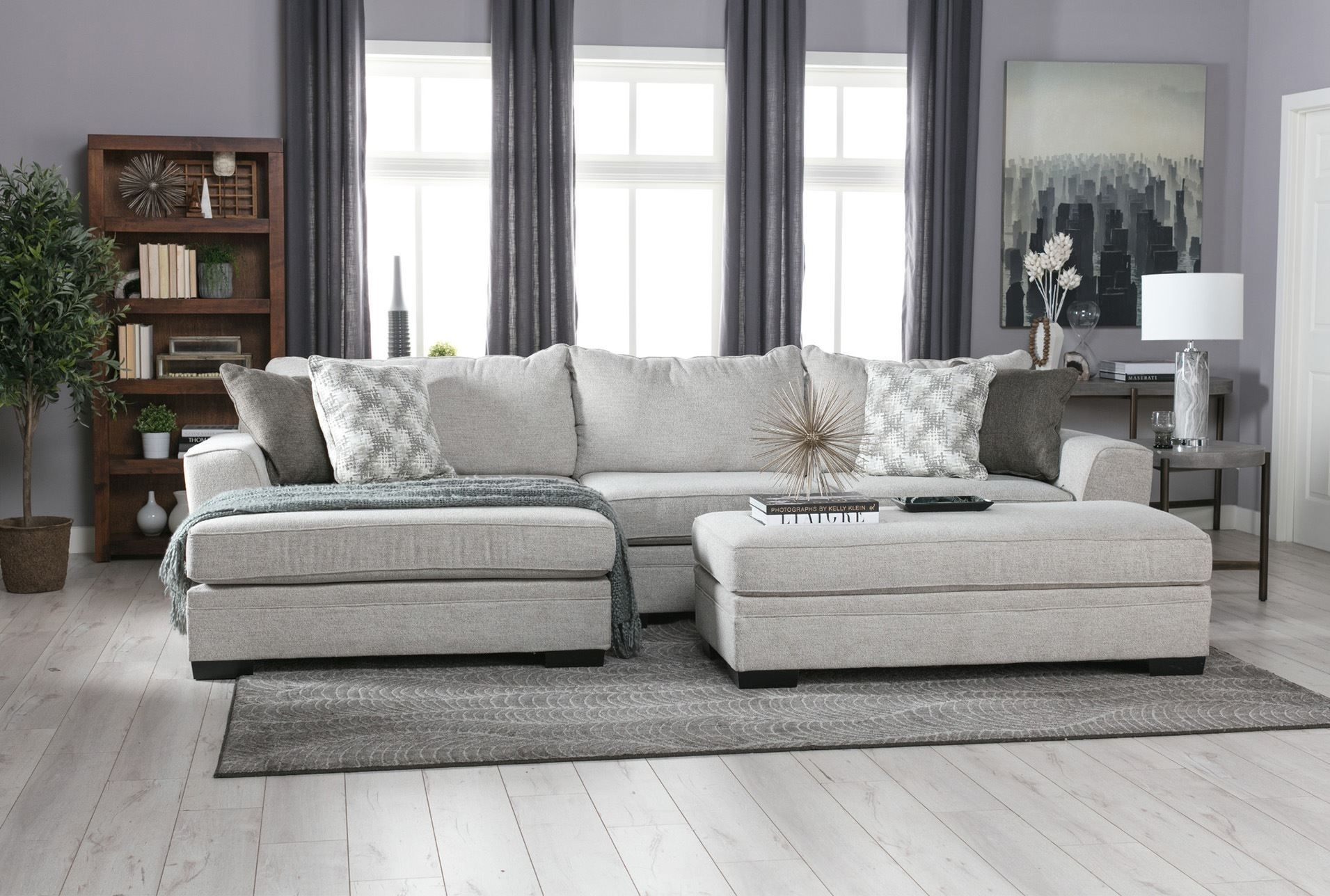 Delano 2 Piece Sectional W/laf Oversized Chaise | Sylvia Son intended for Arrowmask 2 Piece Sectionals With Laf Chaise (Image 7 of 30)