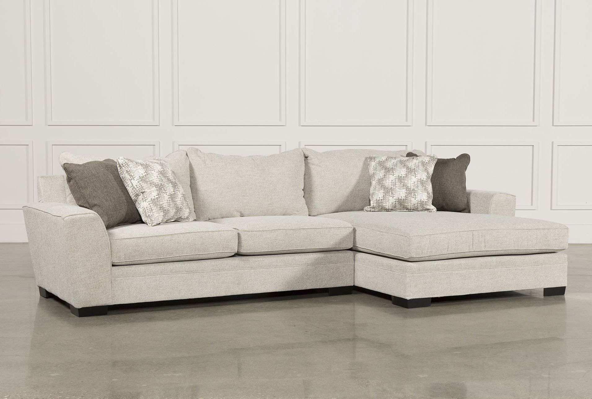 Delano 2 Piece Sectional W/raf Oversized Chaise | New Home with regard to Burton Leather 3 Piece Sectionals (Image 6 of 30)