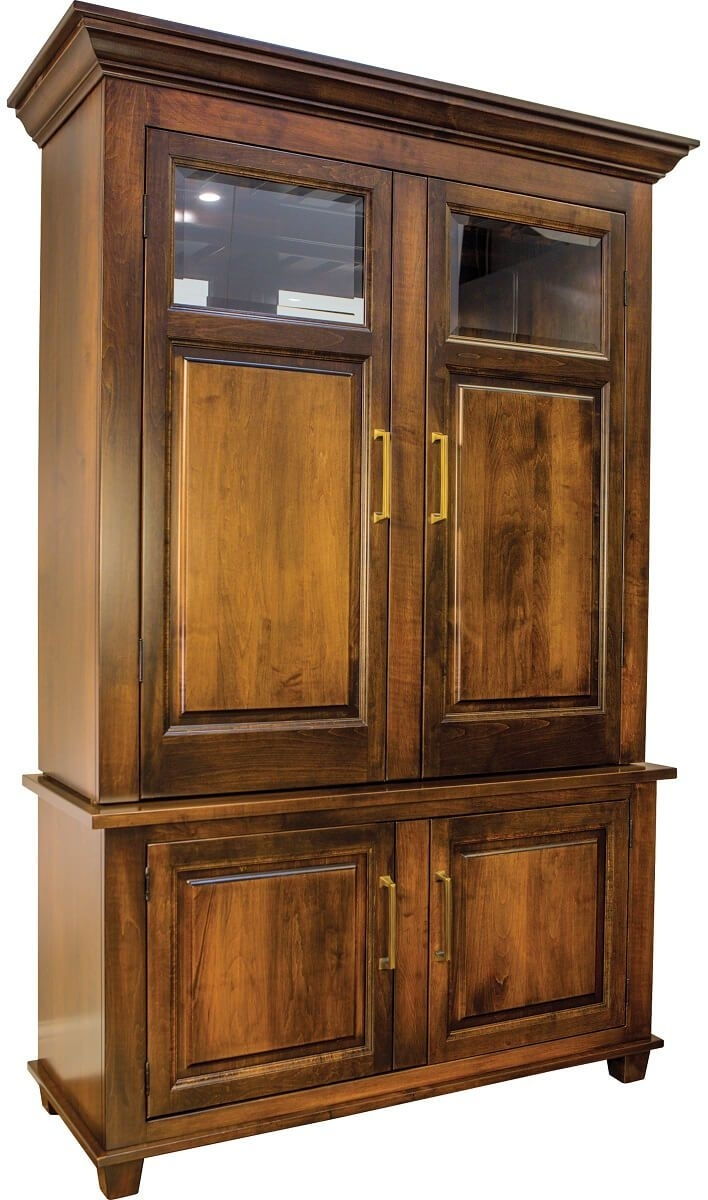 Deleven Hardwood Bar And Wine Cabinet - Countryside Amish Furniture inside Leven Wine Sideboards (Image 8 of 30)