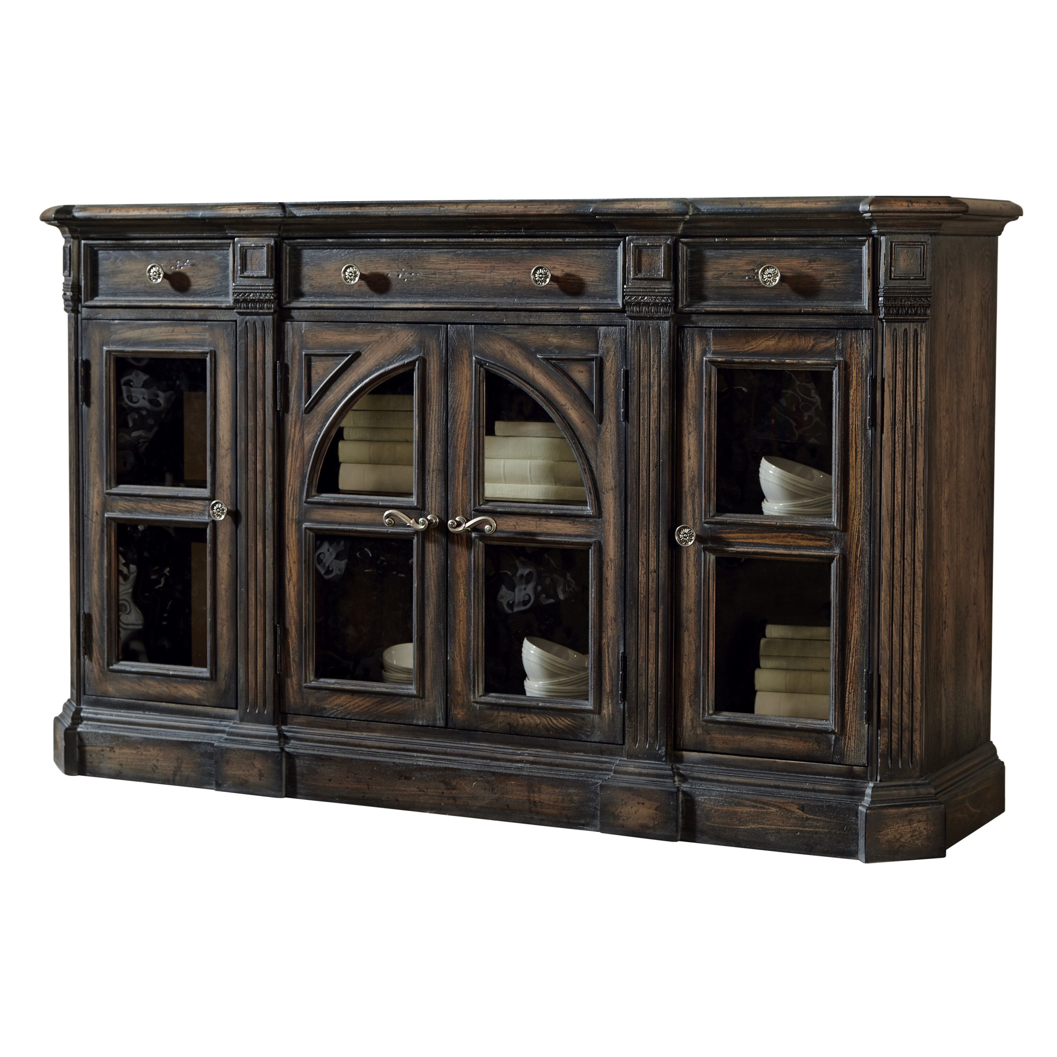 Delmar Sideboard & Reviews | Joss & Main within Carved 4 Door Metal Frame Sideboards (Image 20 of 30)