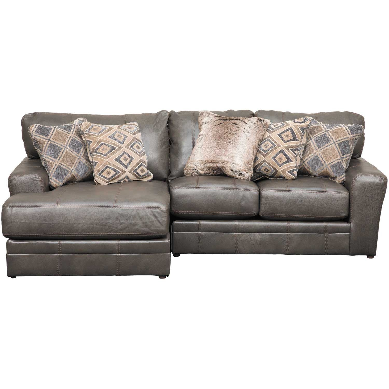 Denali 2 Piece Italian Leather Sectional With Laf Chaise | 4378-75 inside Cosmos Grey 2 Piece Sectionals With Laf Chaise (Image 12 of 30)