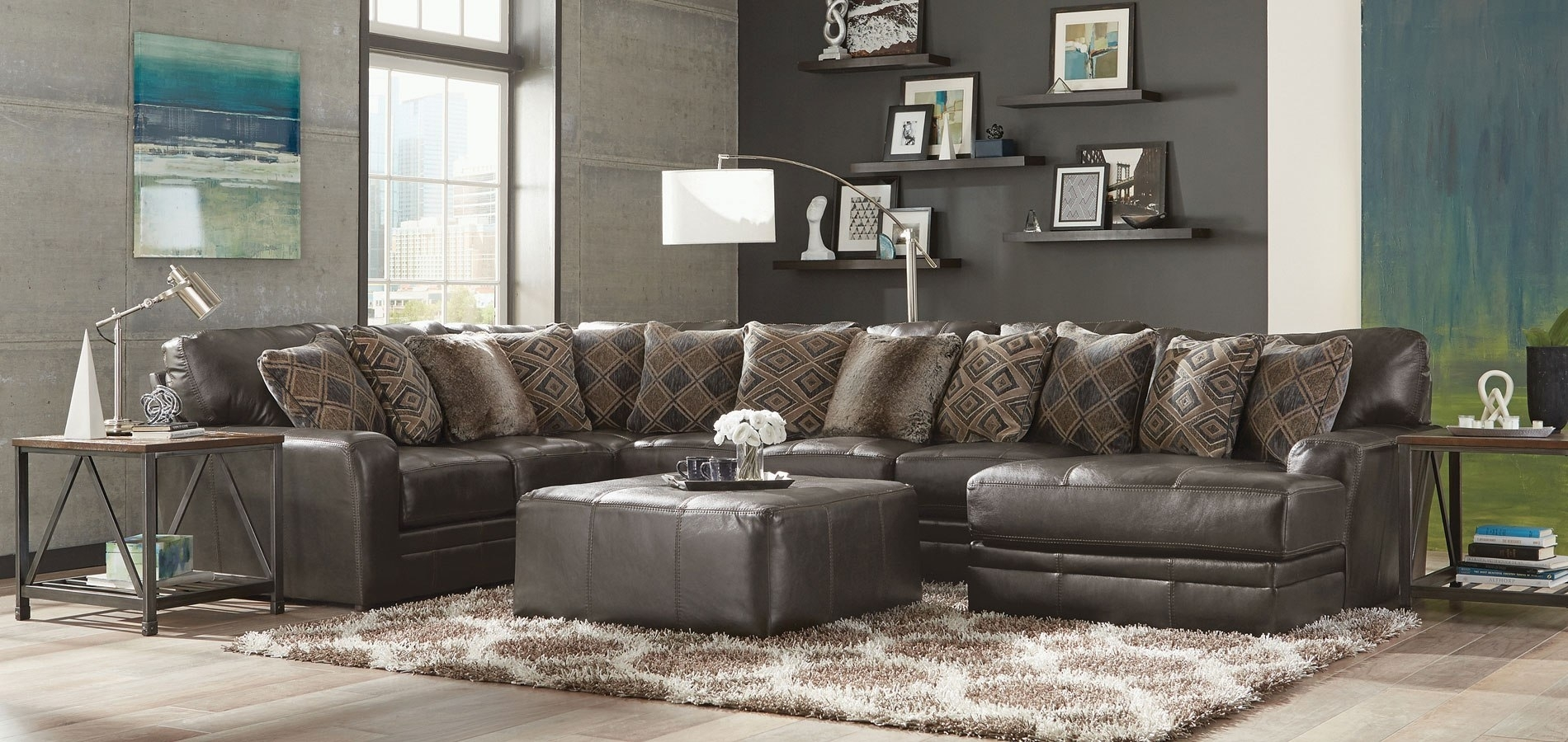 Denali Modular Sectional (Steel) Jackson Furniture | Furniture Cart in Denali Charcoal Grey 6 Piece Reclining Sectionals With 2 Power Headrests (Image 14 of 30)
