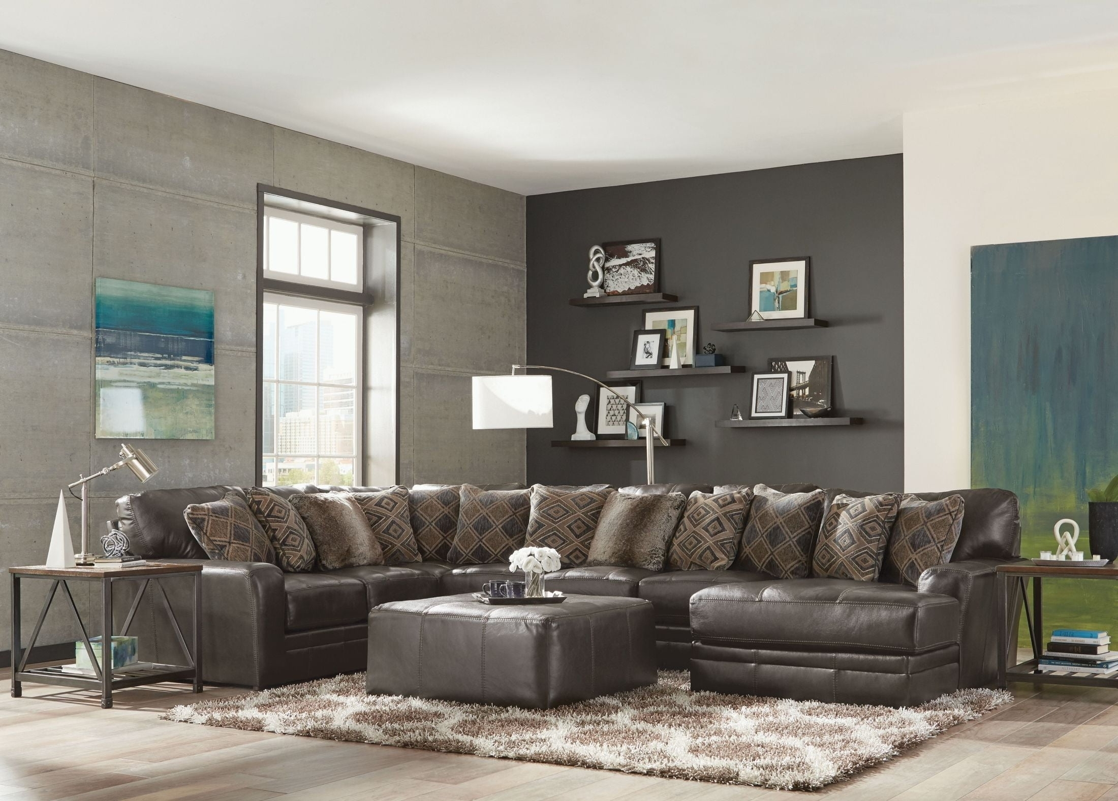 Denali Steel Sectional From Jackson | Coleman Furniture with regard to Jackson 6 Piece Power Reclining Sectionals (Image 11 of 30)