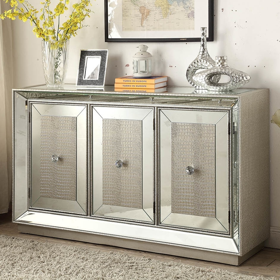 Derry's Sofia 3 Door Sideboard & Reviews | Wayfair.co.uk inside 3-Door 3-Drawer Metal Inserts Sideboards (Image 7 of 30)
