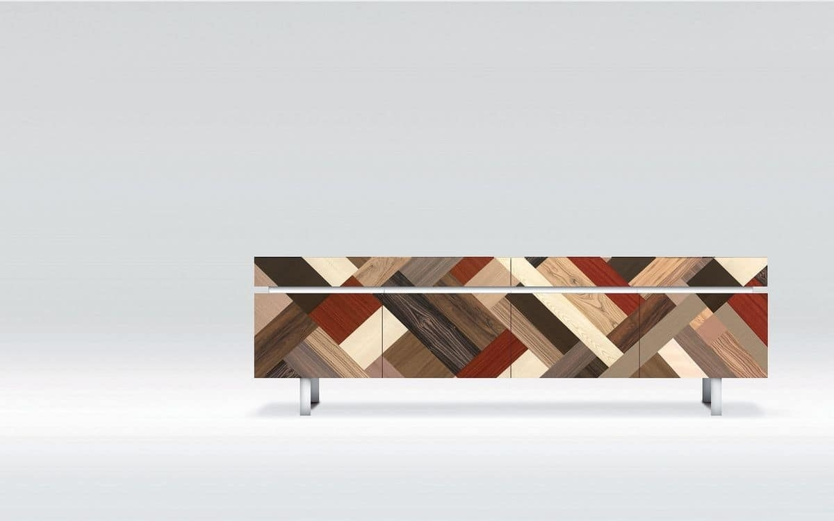 Design Sideboard, Ideal For Residential Use, 4 Doors | Idfdesign intended for Ironwood 4-Door Sideboards (Image 4 of 30)