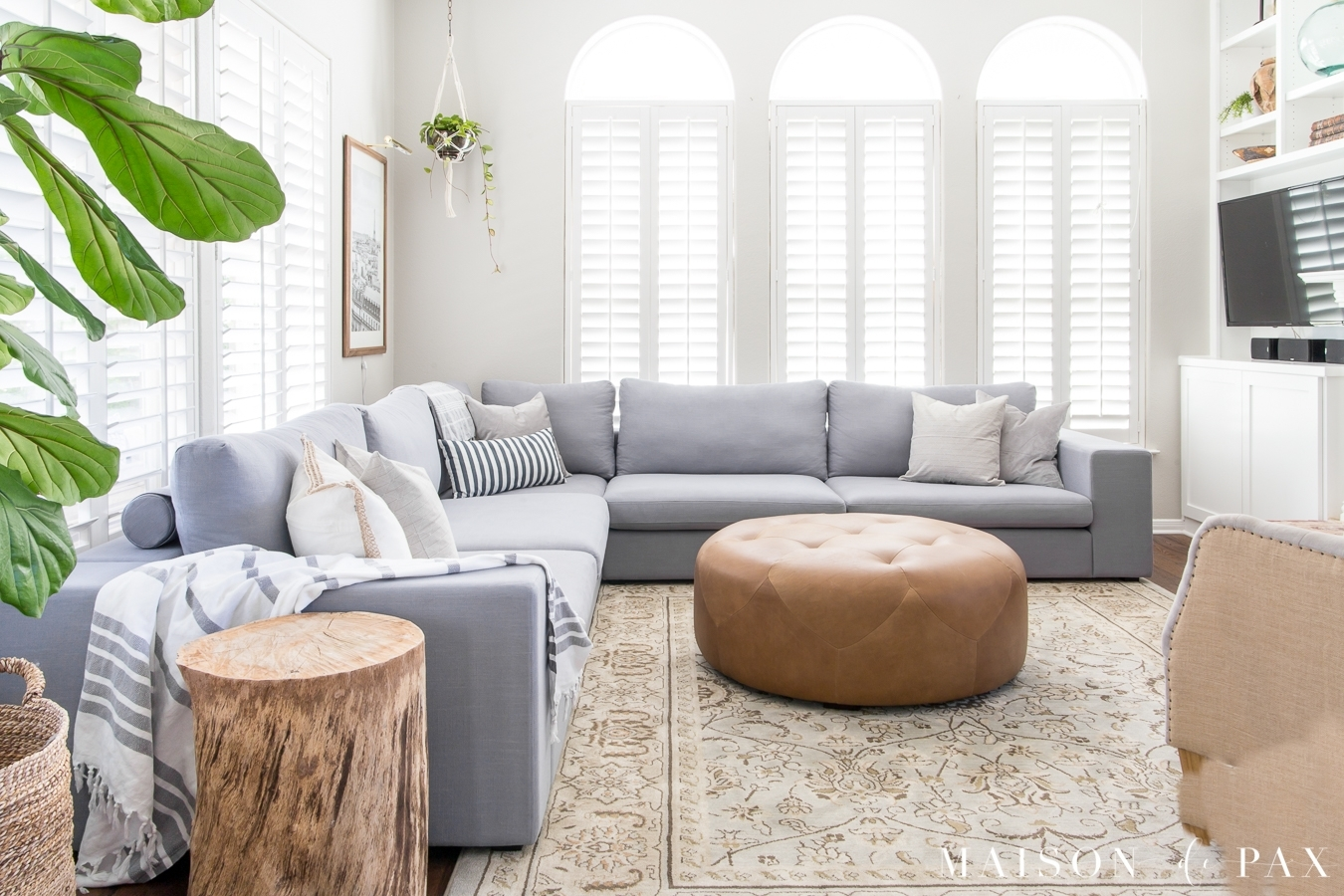 Designing A Small Living Room With A Large Sectional - Maison De Pax within Marissa Ii 3 Piece Sectionals (Image 3 of 30)