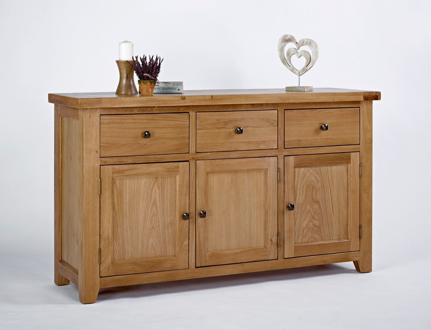 Devon Oak 3 Door 3 Drawer Sideboard | Nice Décors. | Pinterest pertaining to Aged Pine 3-Drawer 2-Door Sideboards (Image 7 of 30)