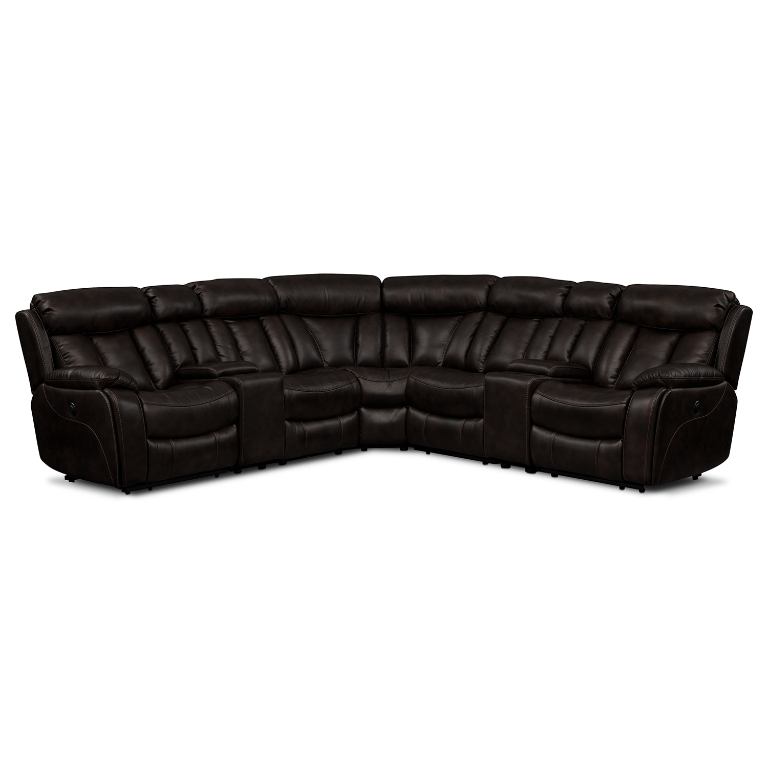 Diablo 7-Piece Power Reclining Sectional With Armless Power Chair inside Haven 3 Piece Sectionals (Image 9 of 32)