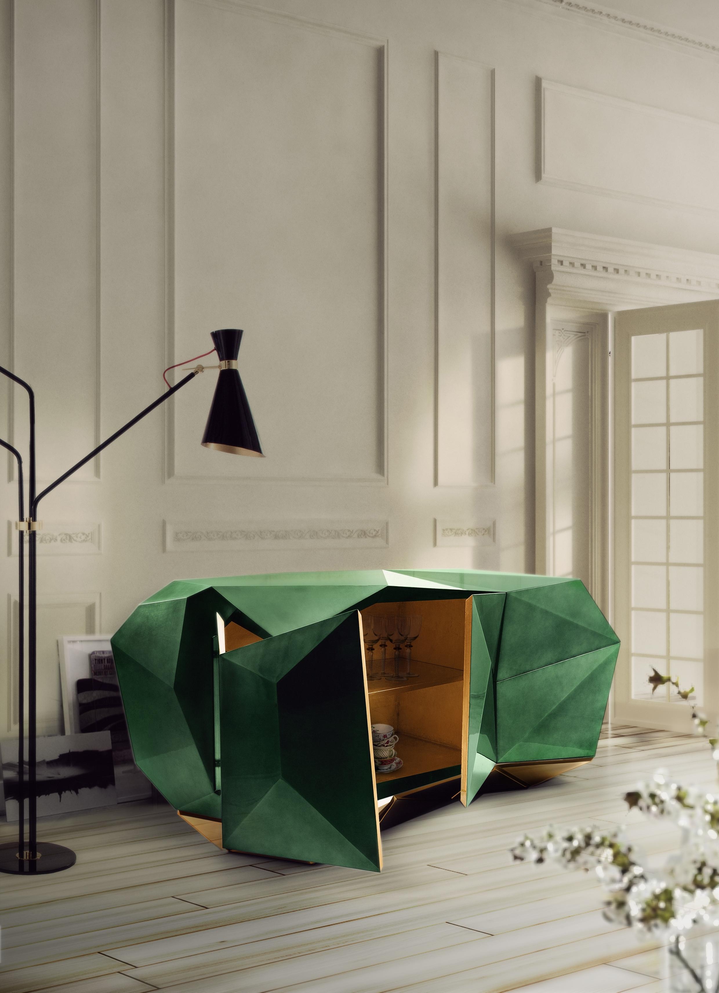 Diamond Emerald Sideboard Exclusive Furniture with regard to Diamond Circle Sideboards (Image 8 of 30)