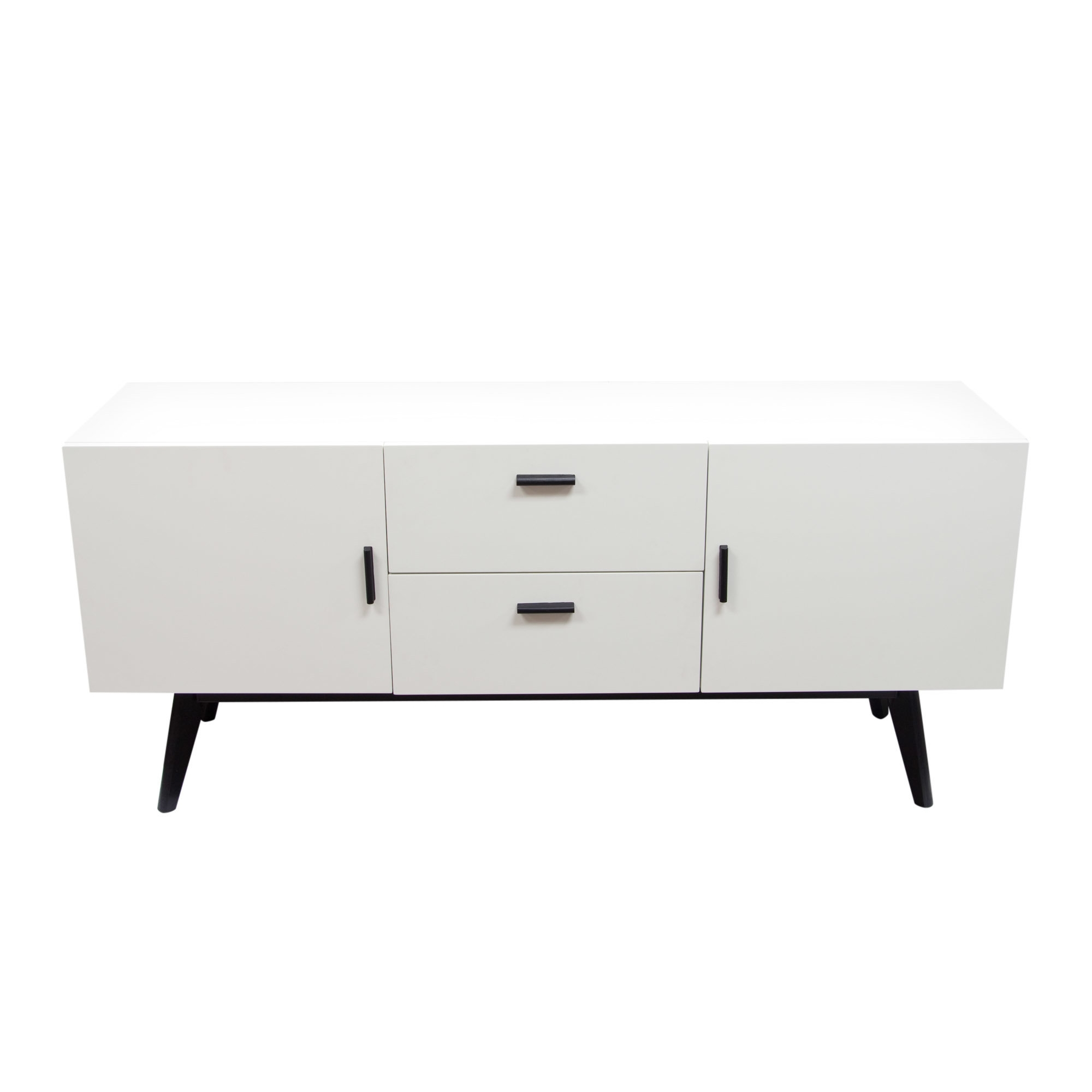Diamond Sofa Mode Sideboard & Reviews | Wayfair pertaining to 4-Door/4-Drawer Metal Inserts Sideboards (Image 12 of 30)