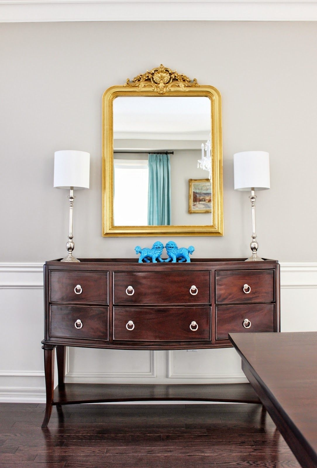 Dining Room Sideboard, Louis Philippe Gilt Mirror, French Gold Leaf In Cass 2 Door Sideboards (View 6 of 30)