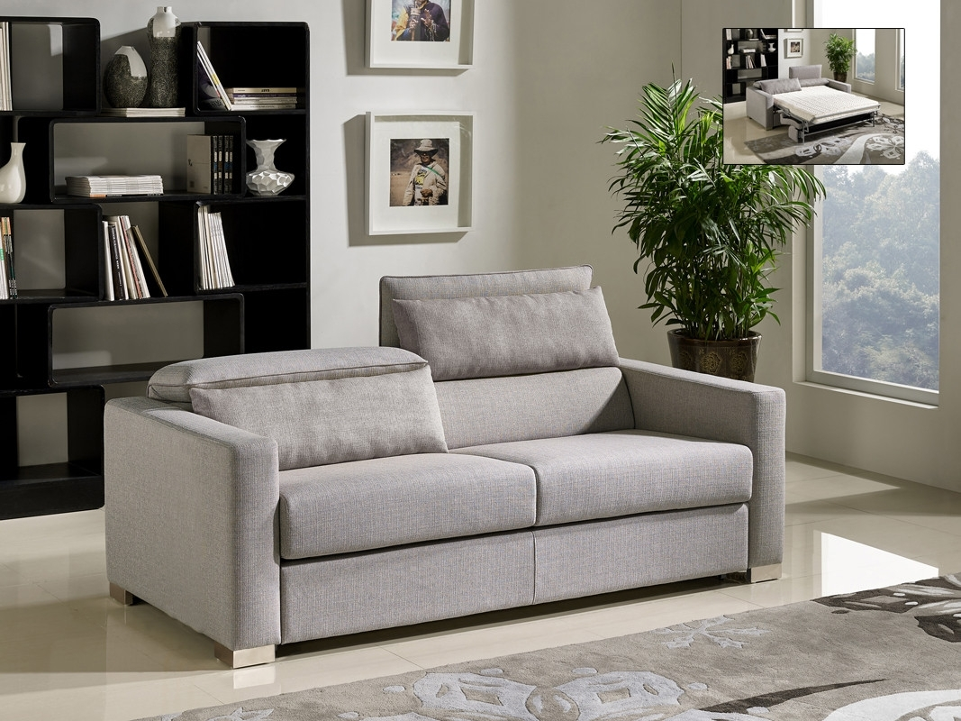 Divani Casa Norfolk Modern Grey Fabric Sofa Bed pertaining to Norfolk Grey 3 Piece Sectionals With Laf Chaise (Image 10 of 30)