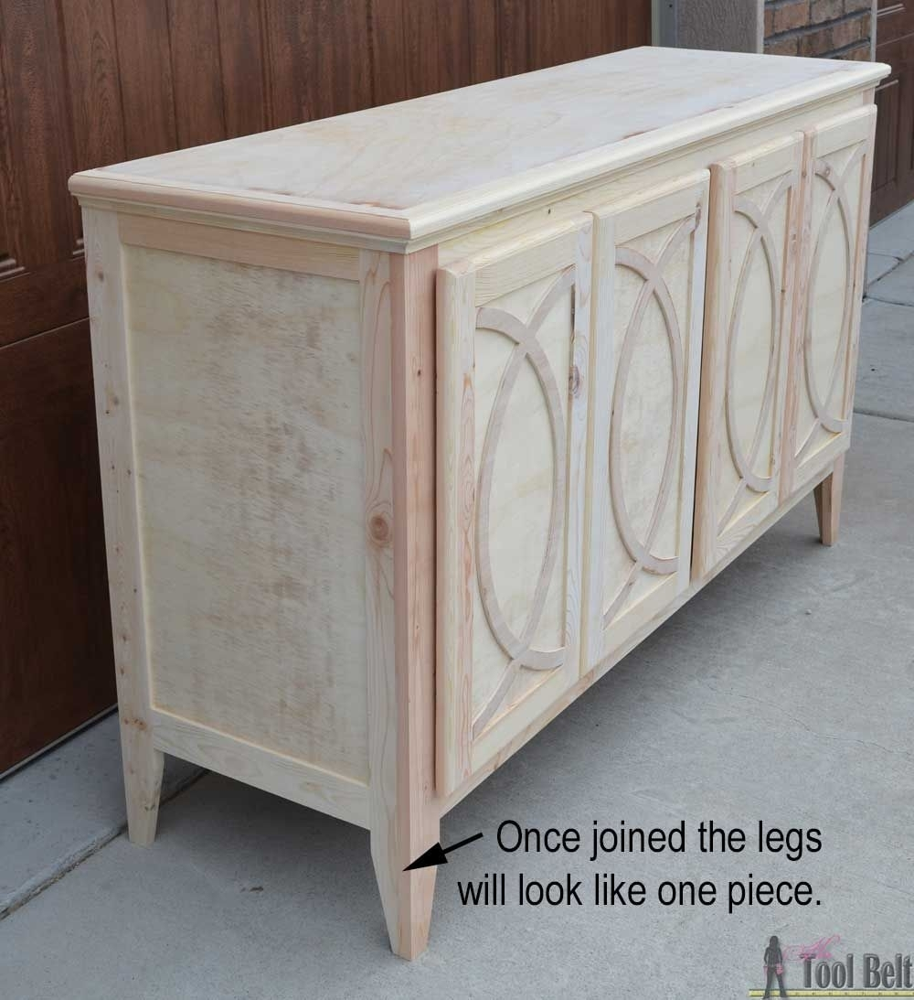 Diy Buffet-Sideboard With Circle Trim Doors | Furniture | Pinterest regarding White Wash 4-Door Galvanized Sideboards (Image 9 of 30)