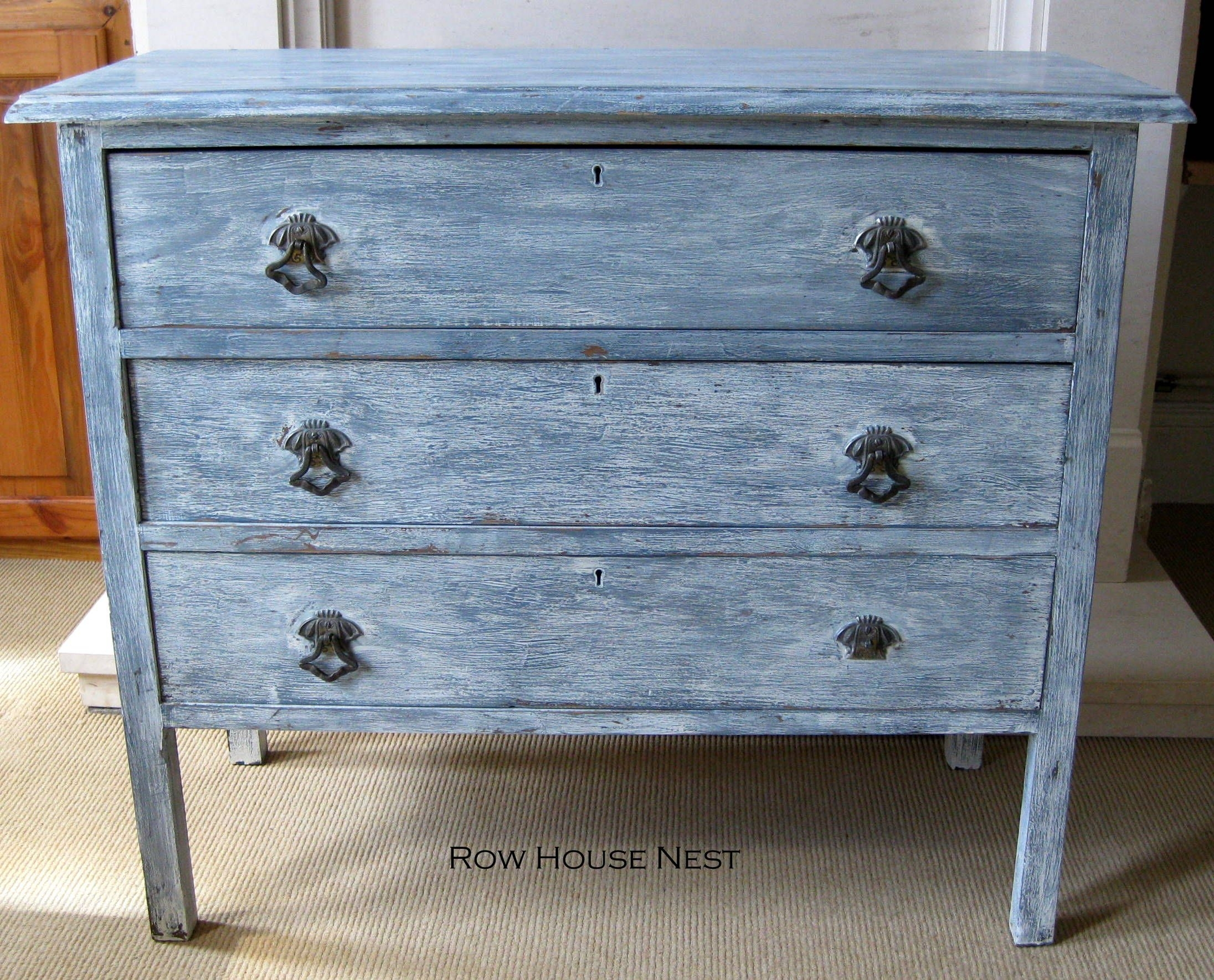 Diy Distressed Dresser | Diy | Pinterest | Furniture, Distressed regarding White Wash 4-Door Galvanized Sideboards (Image 10 of 30)