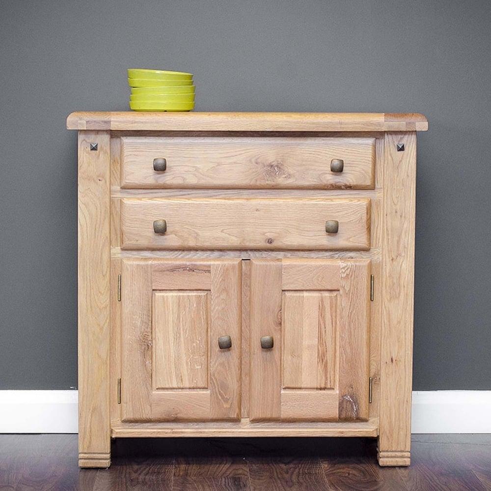 Donny Oak 2 Drawer - 2 Door Sideboard - Furniture From Delta House in Natural Oak Wood 2-Door Sideboards (Image 9 of 30)