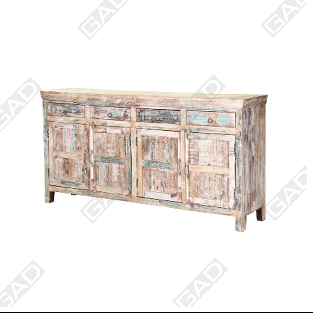 Dura Space Reclaimed Wood Sideboard For Corrugated Natural 4 Drawer Sideboards (View 8 of 30)